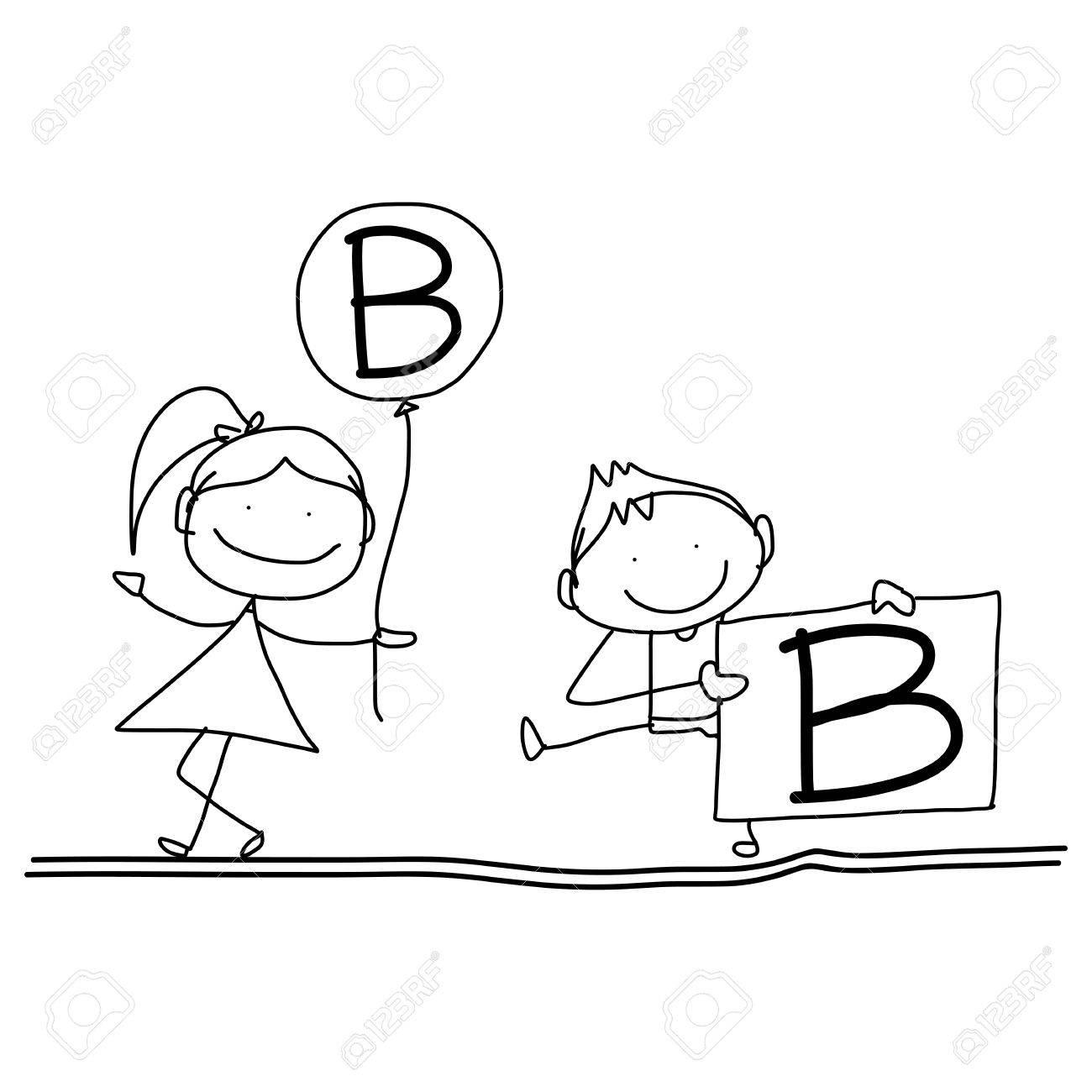 Vettoriale Disegno A Mano Personaggio Dei Cartoni Animati Felicità