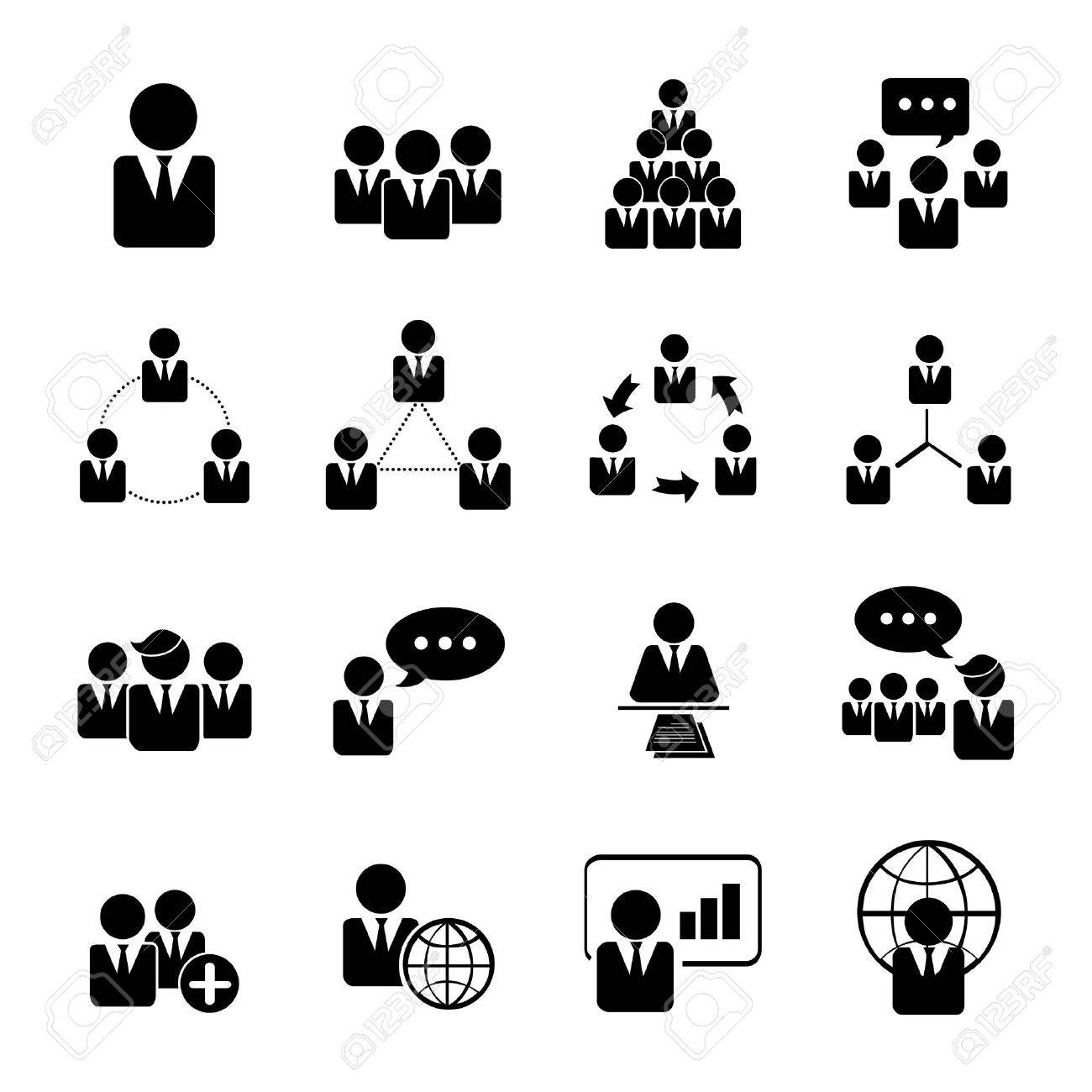 business, management and human resource icons set illustration eps 10 - 40391810
