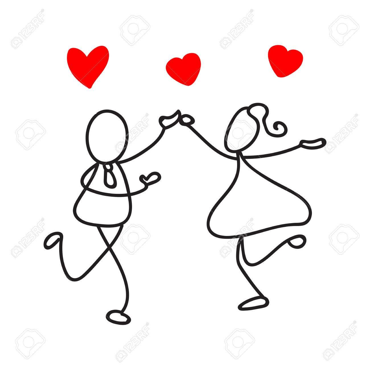 Main Dessin Resume Gens Couple Amour Danse Mariage Romance