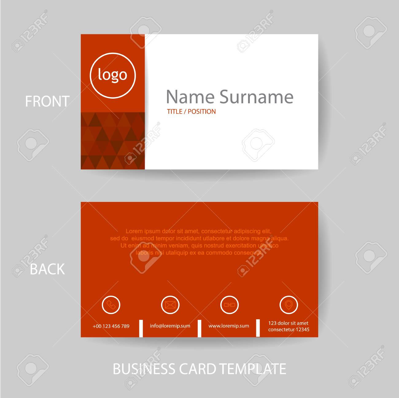 Vector modern and clean red business card name card design template vector vector modern and clean red business card name card design template cheaphphosting Image collections