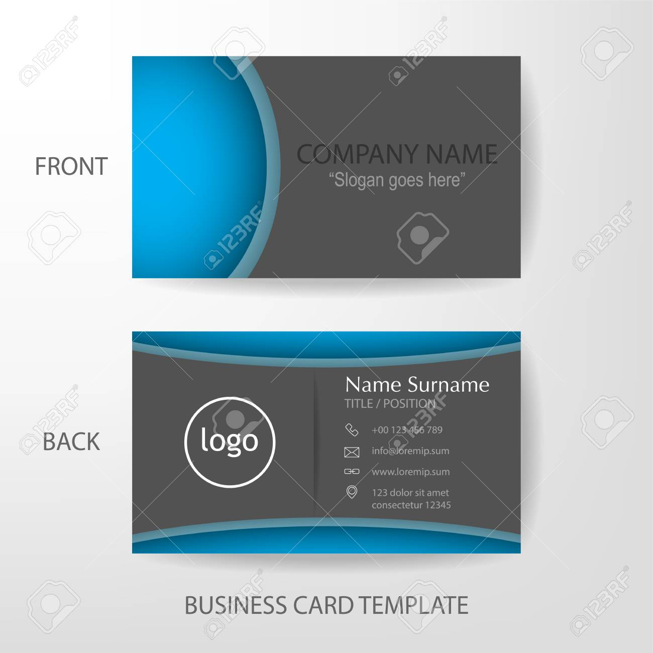 Vector Modern And Clean Business Card Name Card Design Template - Name card design template