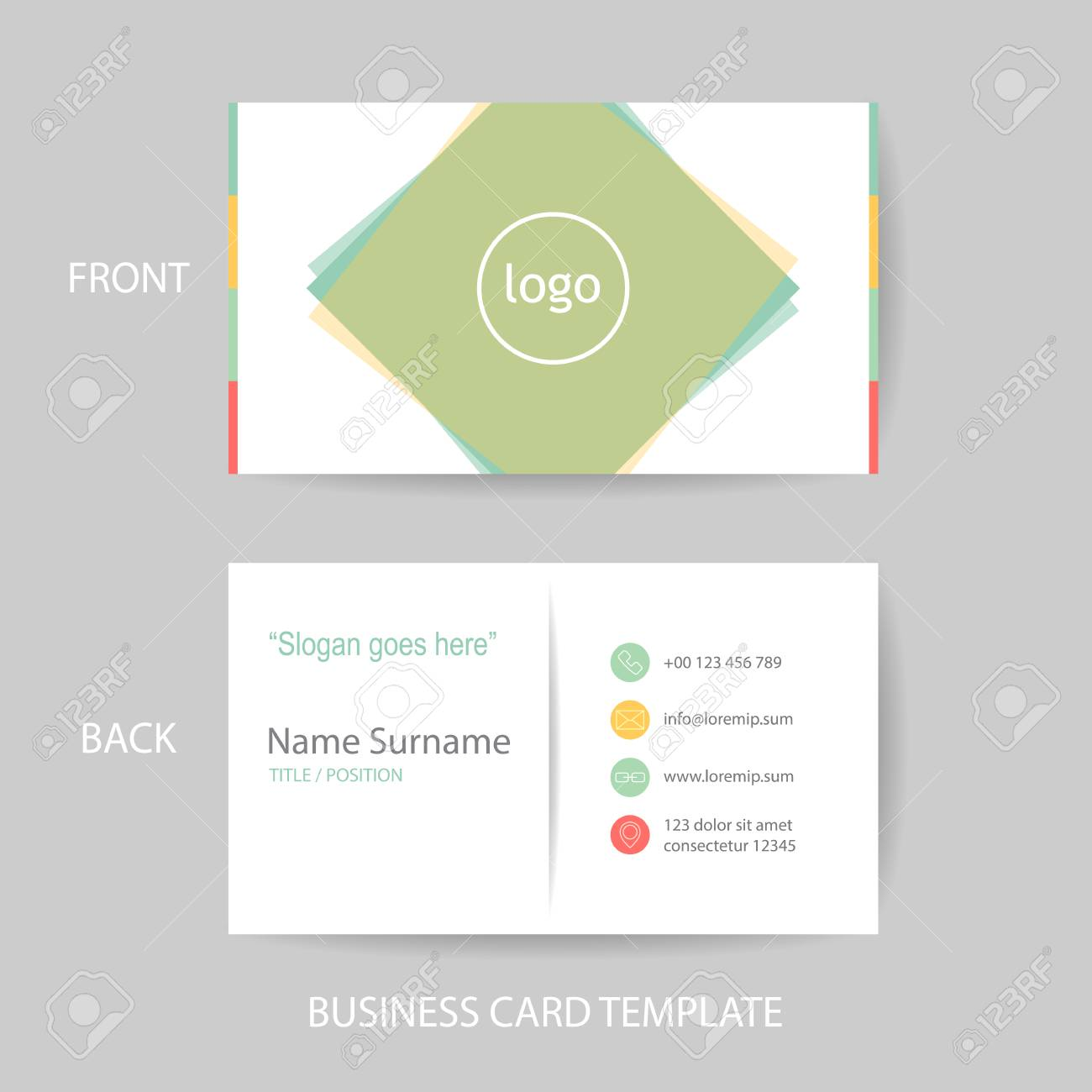 Vector Modern And Clean Business Card Name Card Design Template ...