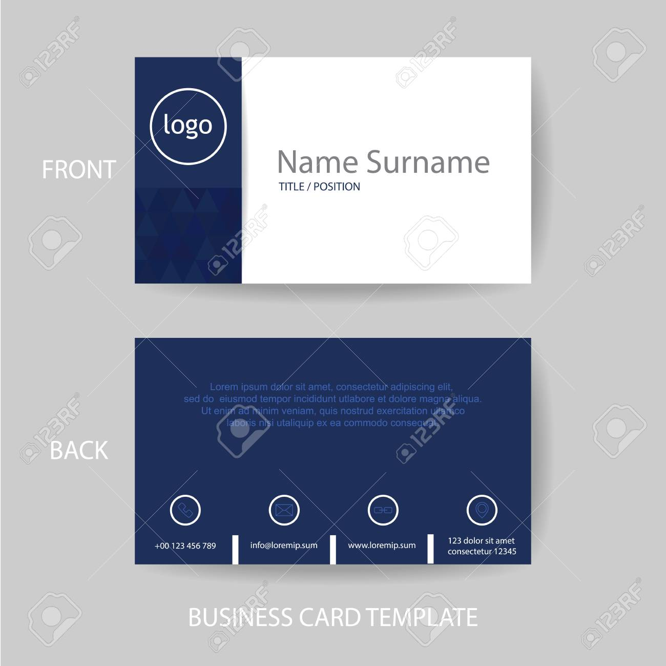 vector modern and clean business card name card design template