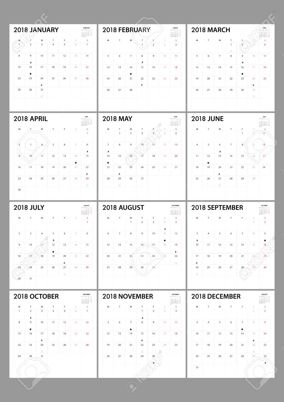 Organization Calendar Free : Calendar for on white background for organization and