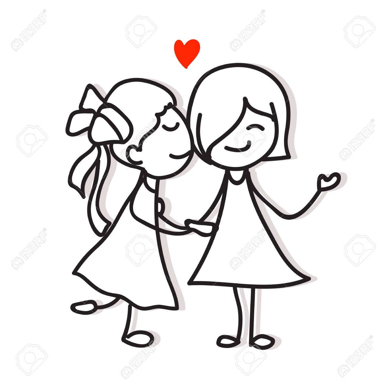 Same Sex Couple Love Kiss And Holding Hand Hand Drawing Cartoon Royalty Free Cliparts Vectors And Stock Illustration Image 139900055