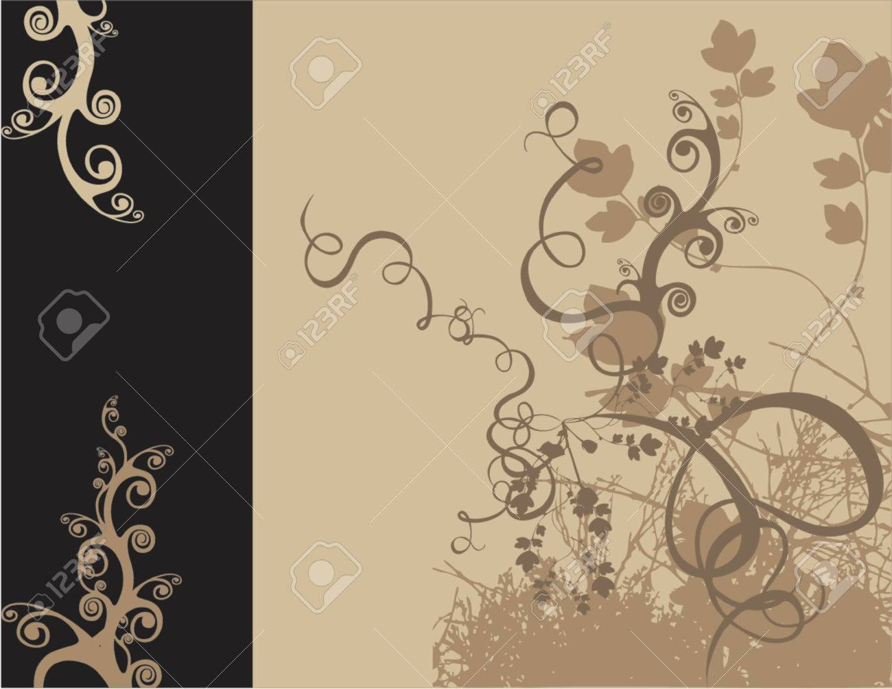 vectorized floral design color and size as you wish Stock Vector - 411796