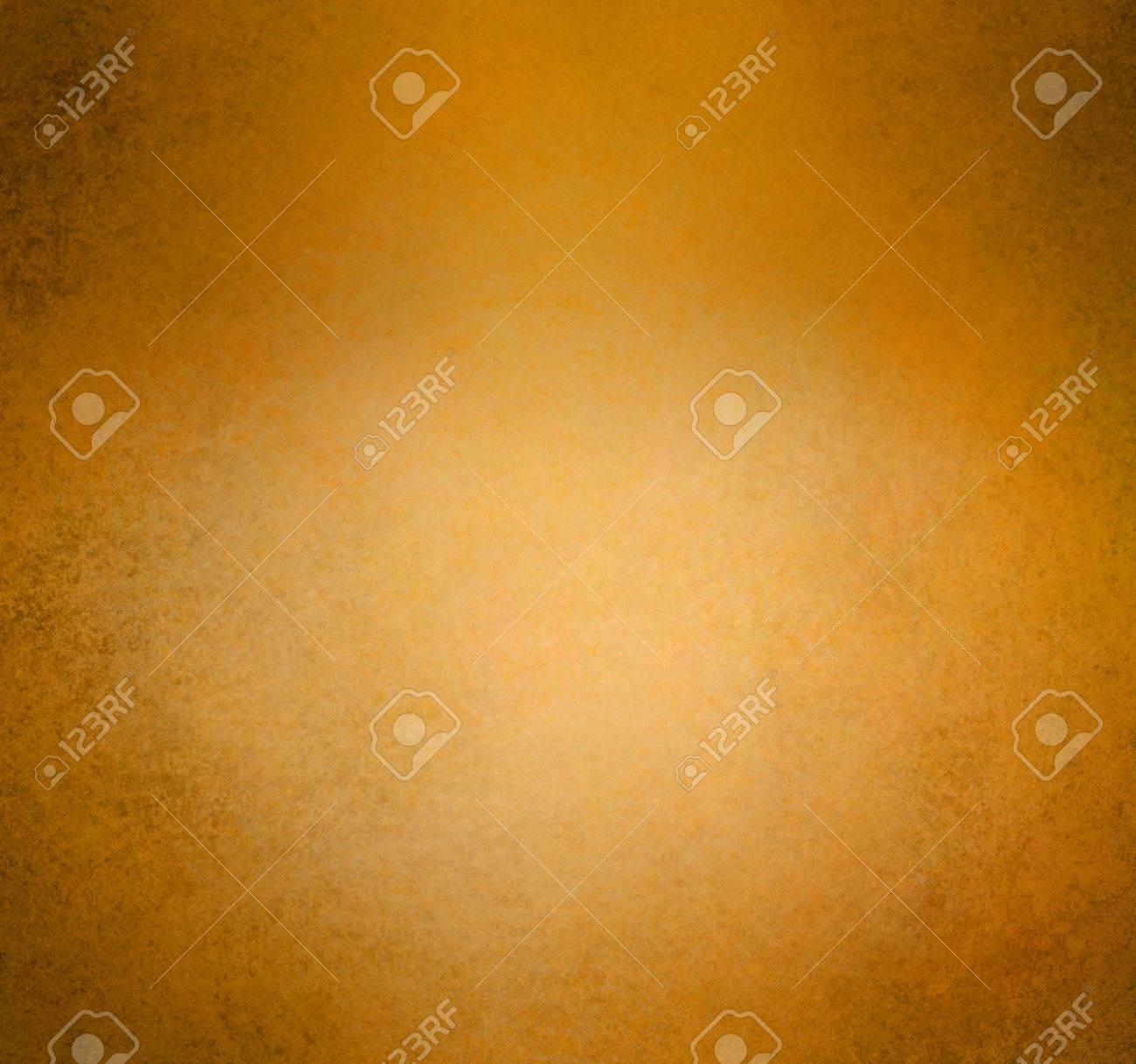 Brûlé Or Fond Orange Vendange Texture Frontière Détresse Porté Or Peinture Murale Orange Avec Plus Sombre Bordure Noire Grunge Et Lumineux Centre De