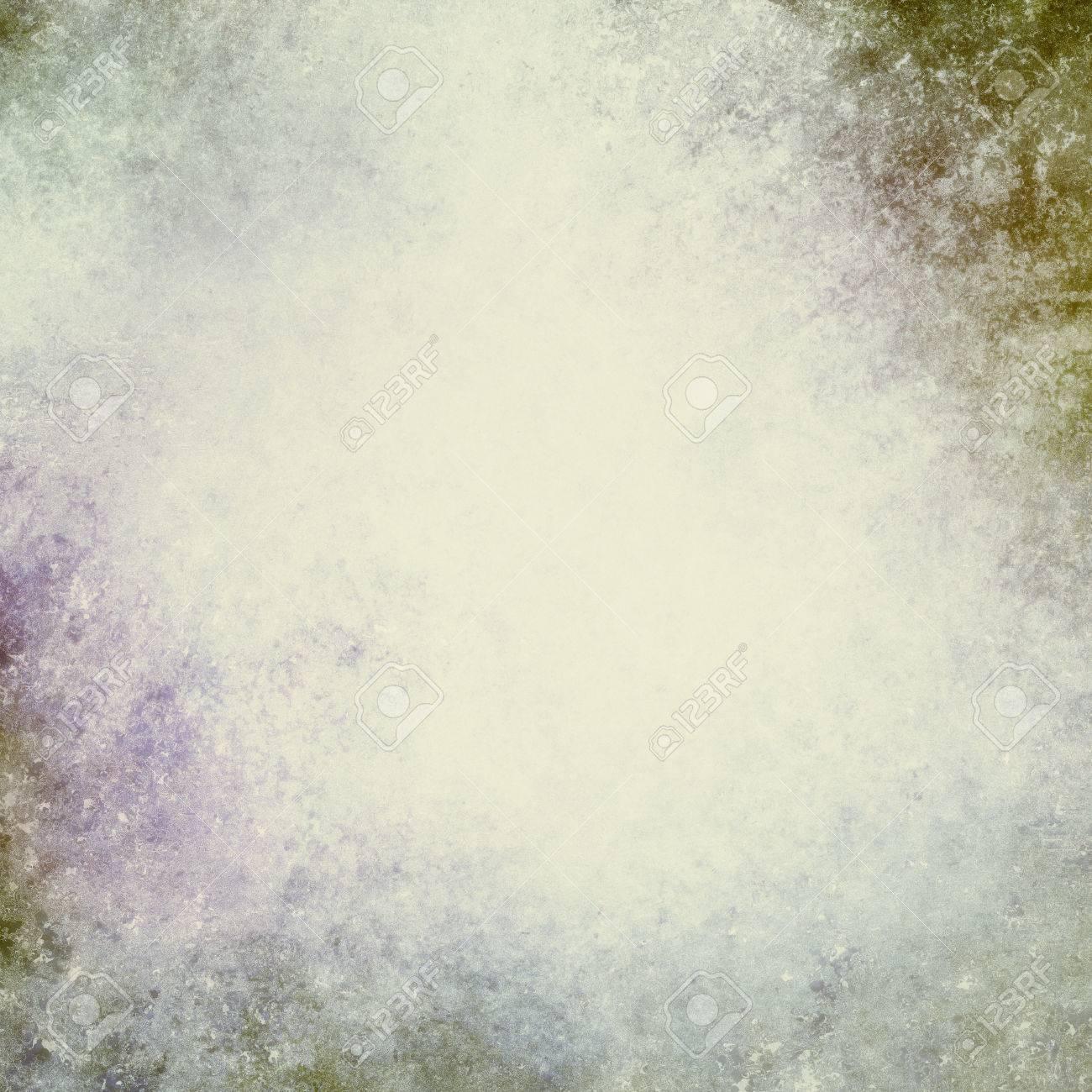 Weinlese Beunruhigte Blau Grun Lila Und Weg Weissen Hintergrund