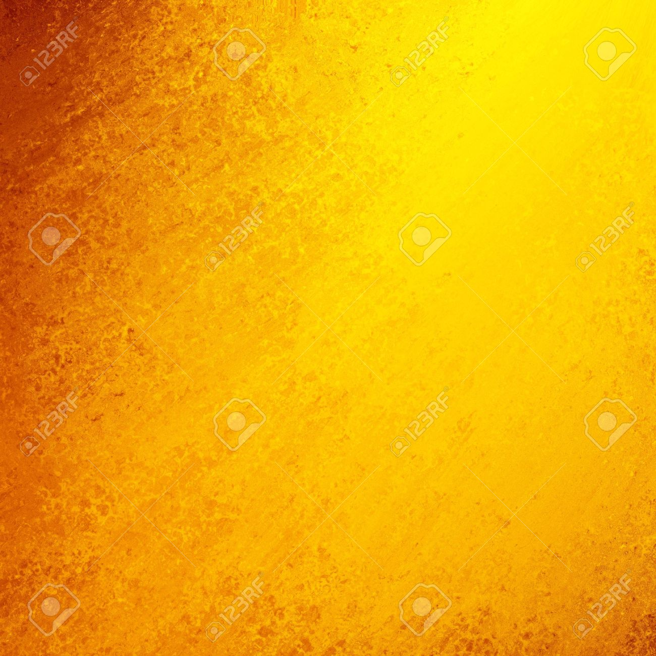 bright smeared gold paint with orange grunge border, bright sunny