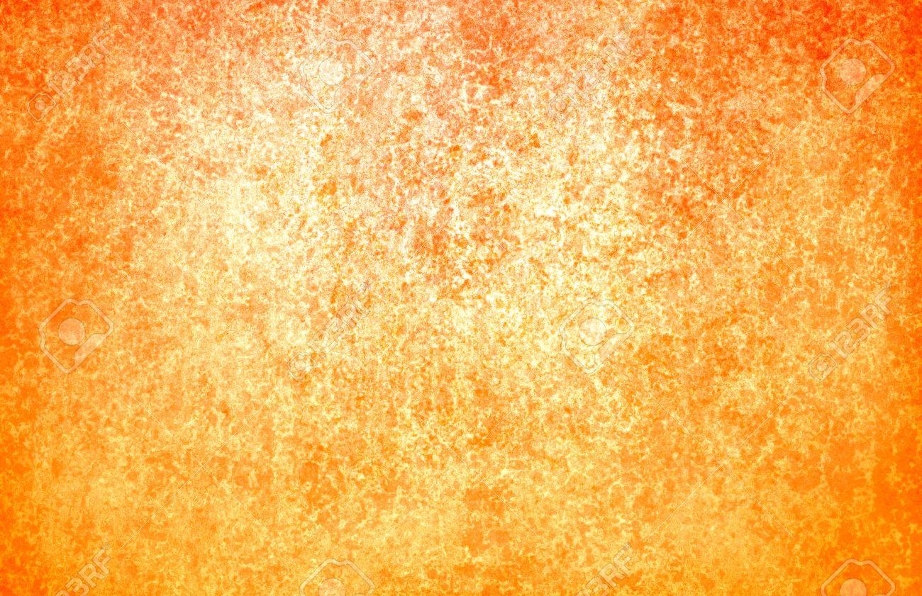 Or Brillant Papier Fond Orange Avec Couleur Chaude Automne Grunge Et ...