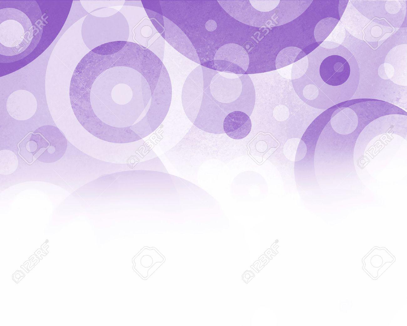 楽しいサークルで紫と白の背景と...