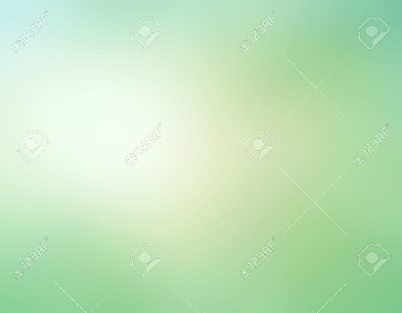 Abstract Pale Green Blurred Background, White Beige Color Spotlight ...