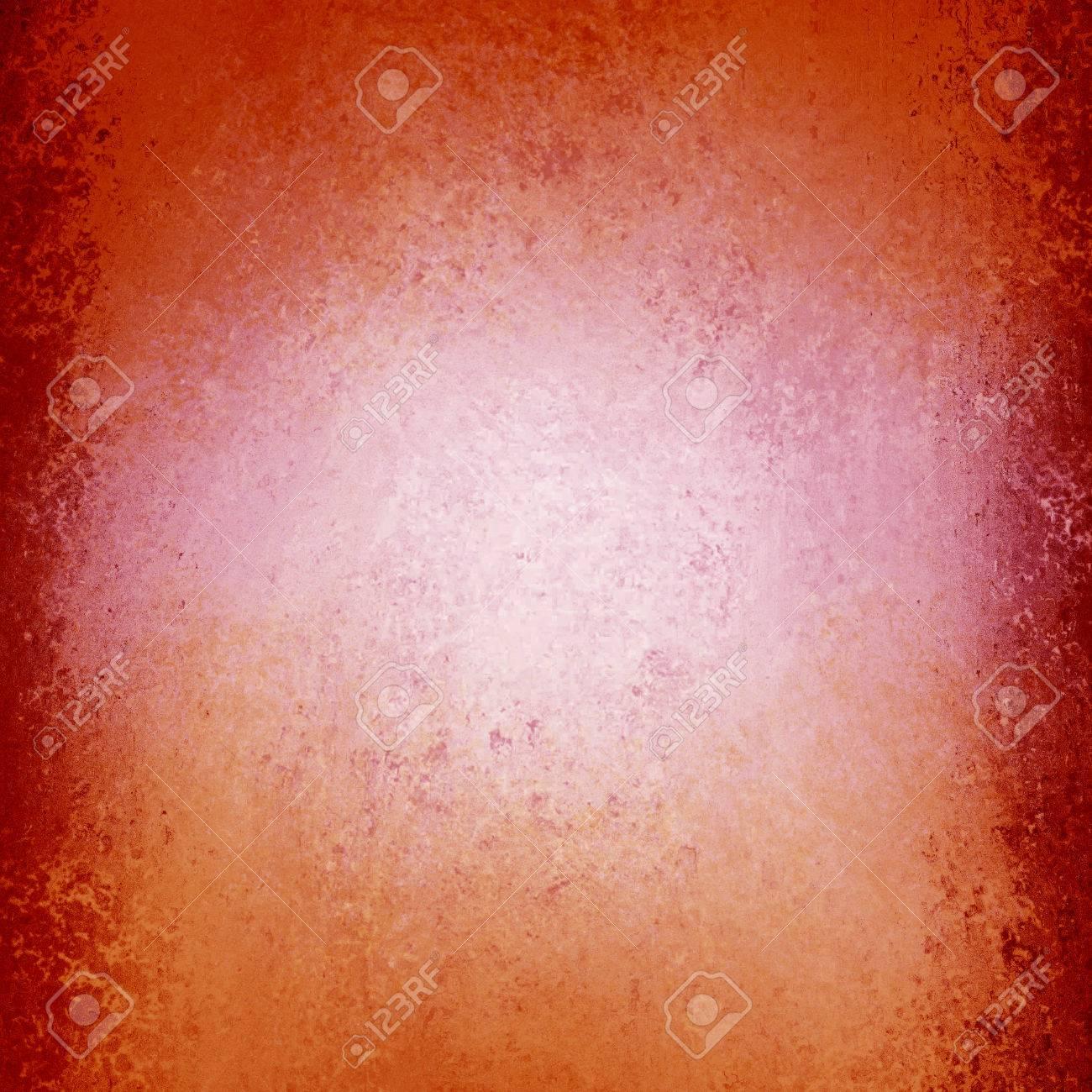 1058dd9b11be Elegante fondo de color naranja rosado con diseño de borde de color rosa o  burdeos grunge