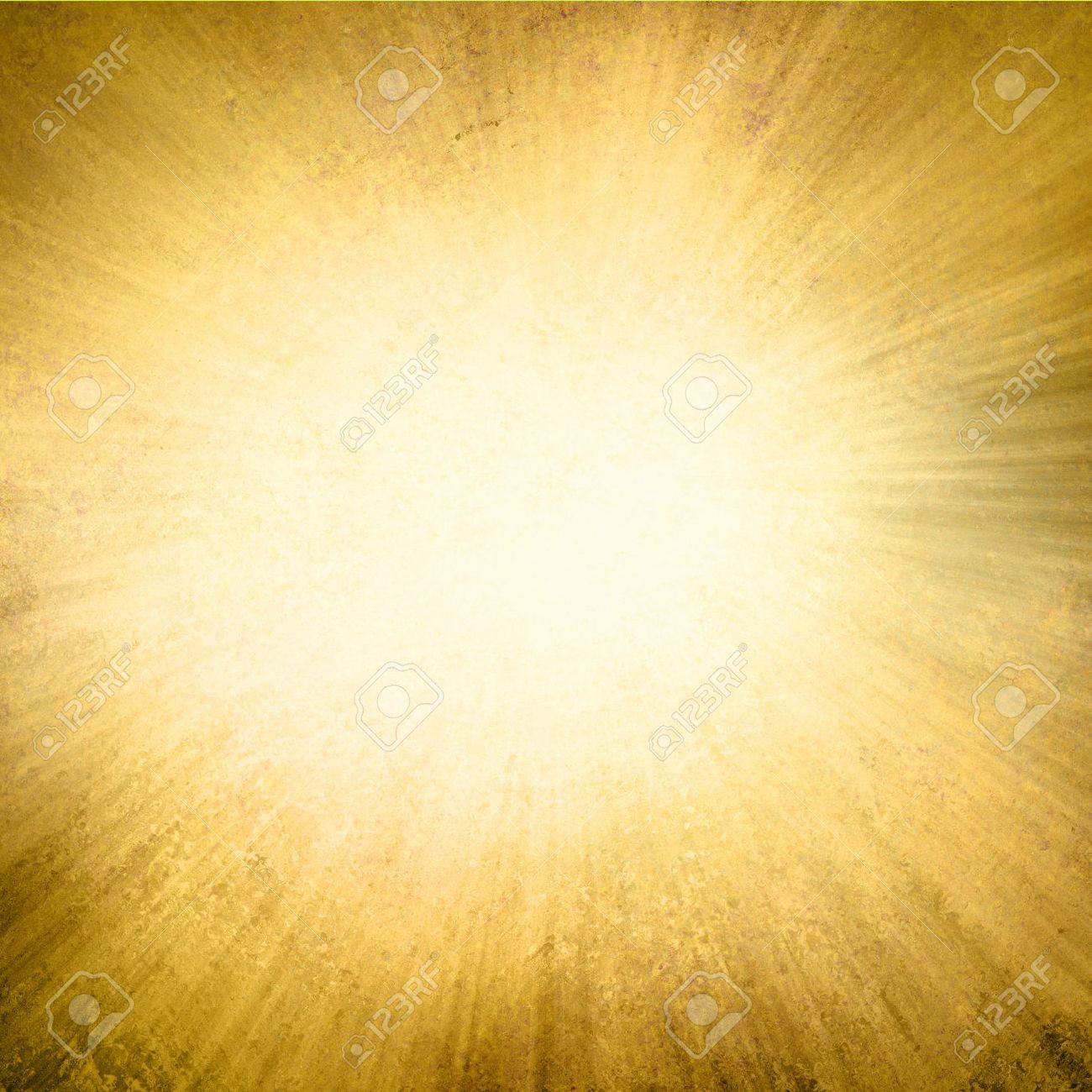 Background image center - Gold Background Yellow Streaks Of Light Radiate From Center To Dark Brown Frame In Sunburst