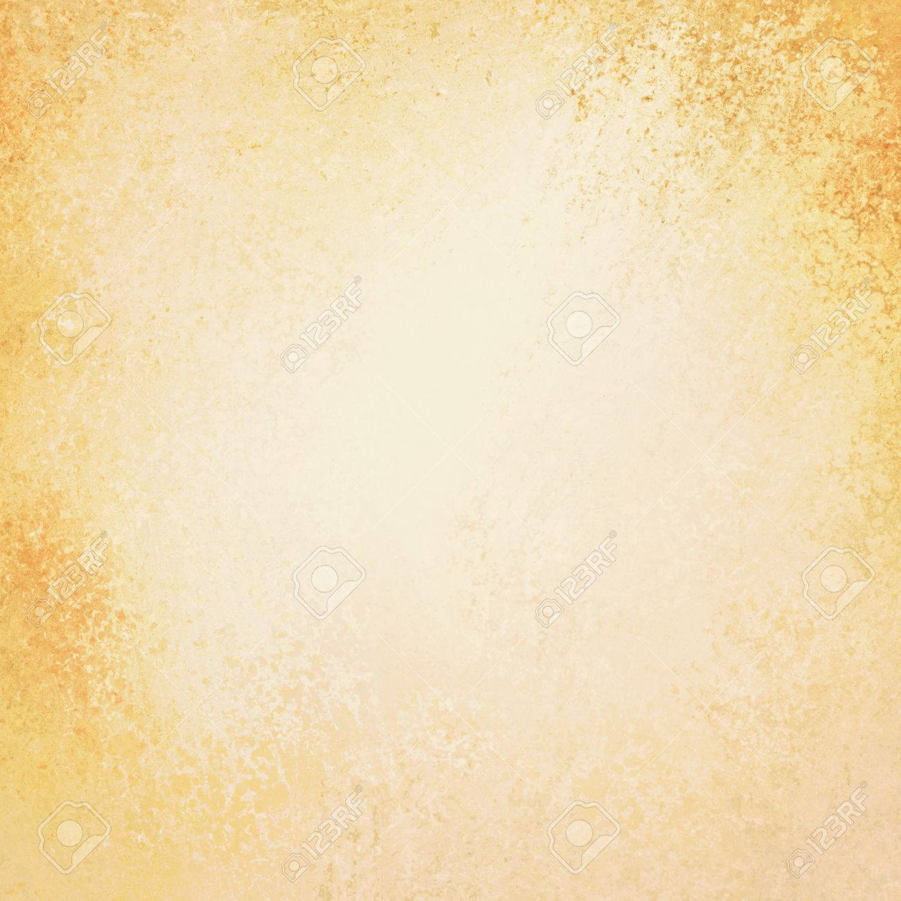 Old Paper Texture White Center With Orange And Yellow Grunge