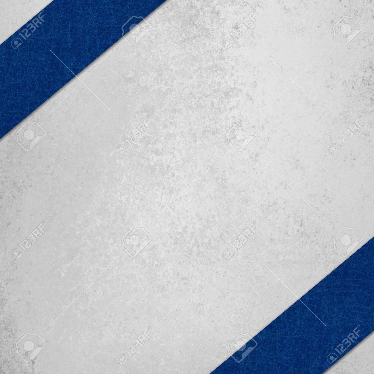 White Background With Navy Blue Diagonal Stripe In Corner Stock