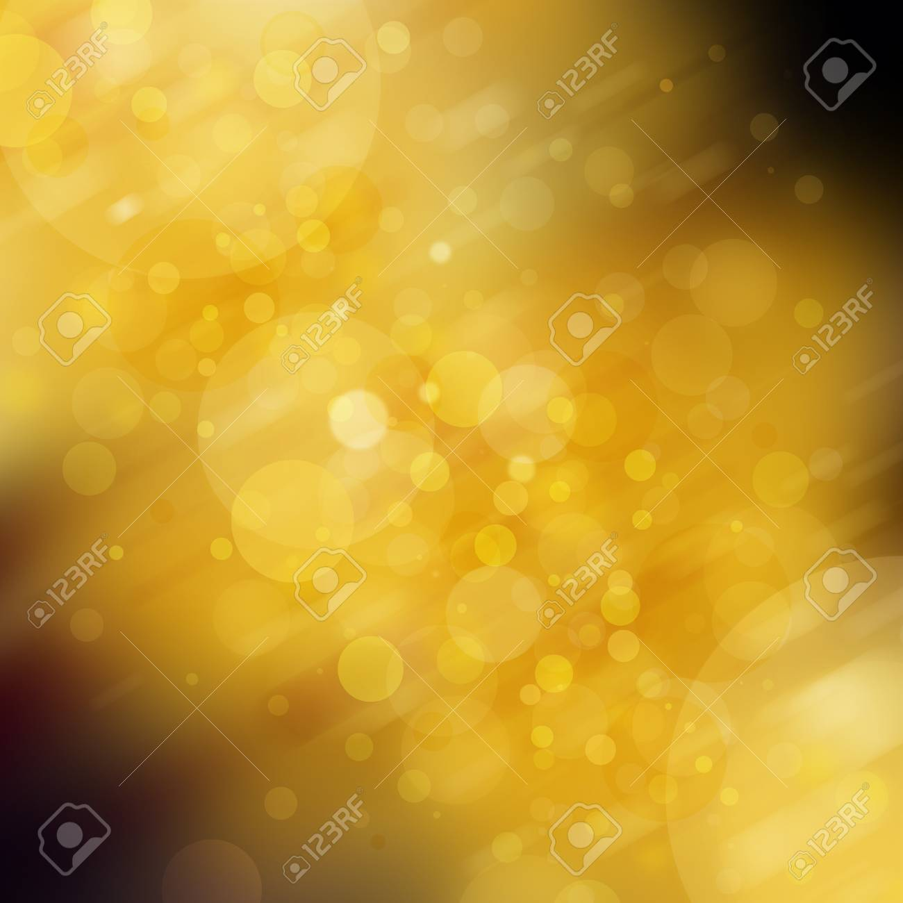 Elegant Gold Circles On Blurred Yellow And Black Background White Bokeh Lights With Diagonal Slanted Motion Blur Shiny Glittering Balls Of Light Christmas Background Stock Photo Picture And Royalty Free Image Image