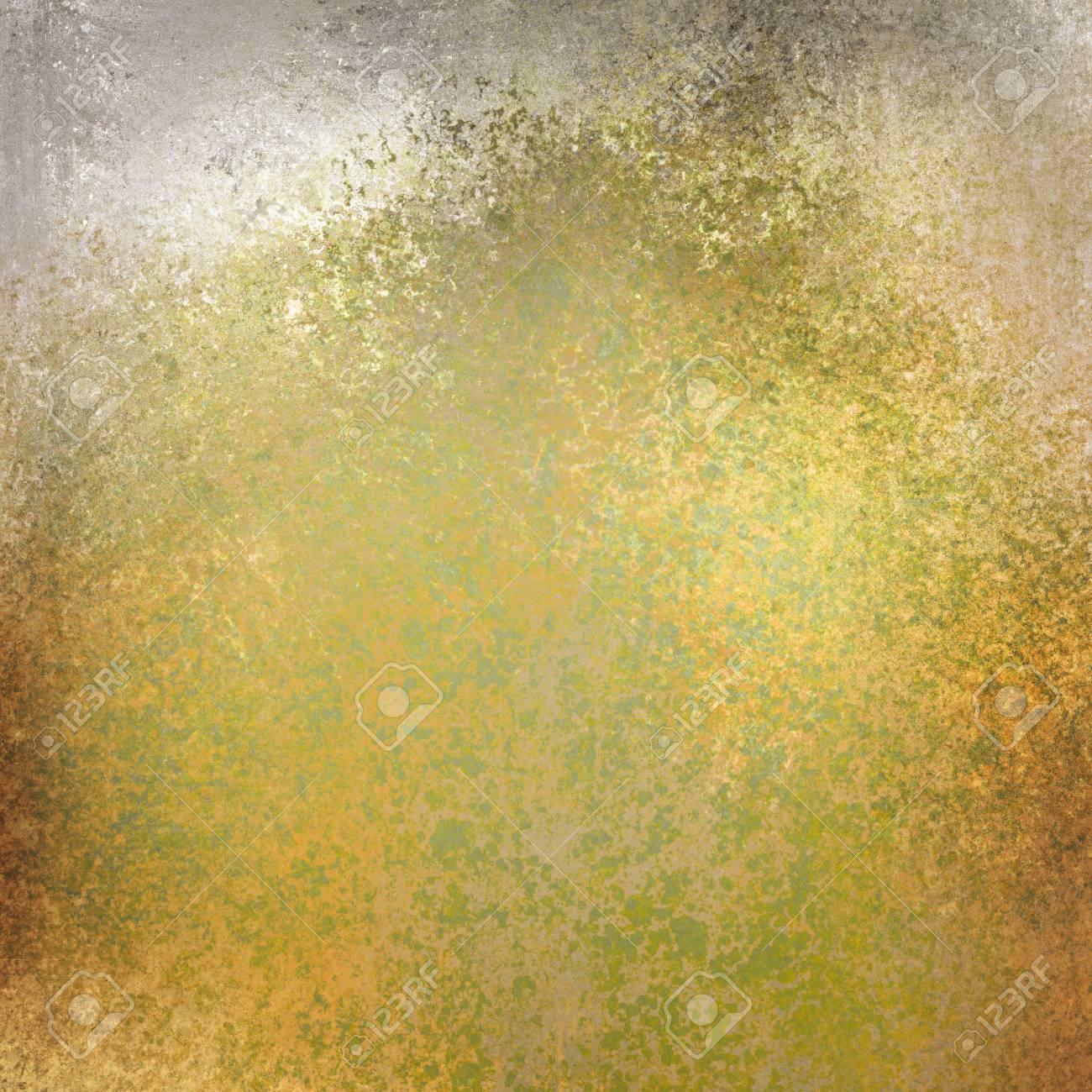 Gold Und Grünem Hintergrund Mit Distressed Textur Flecken ...