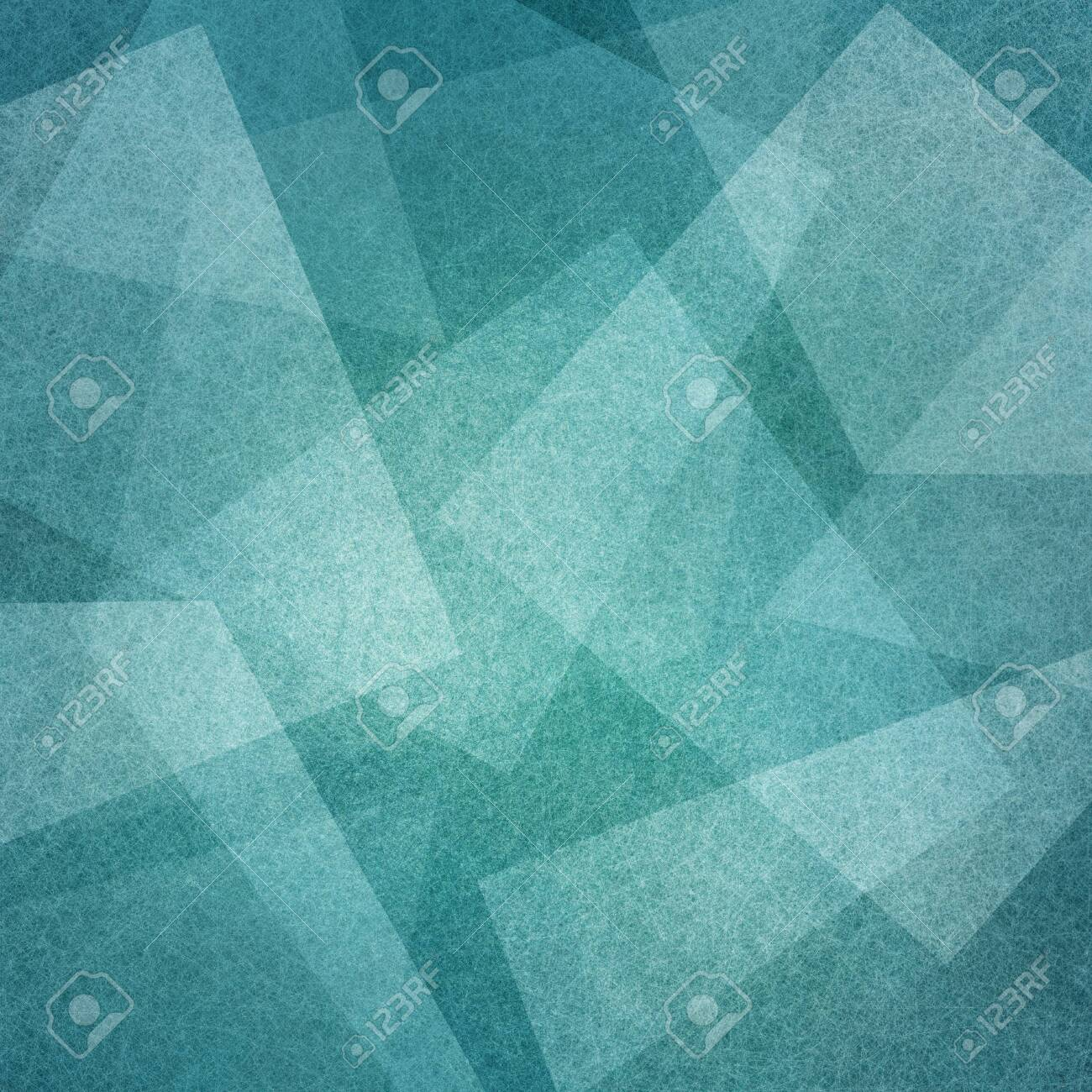 blue background with abstract squares angles and triangle layers in abstract geometric pattern for web and business designs - 122101055