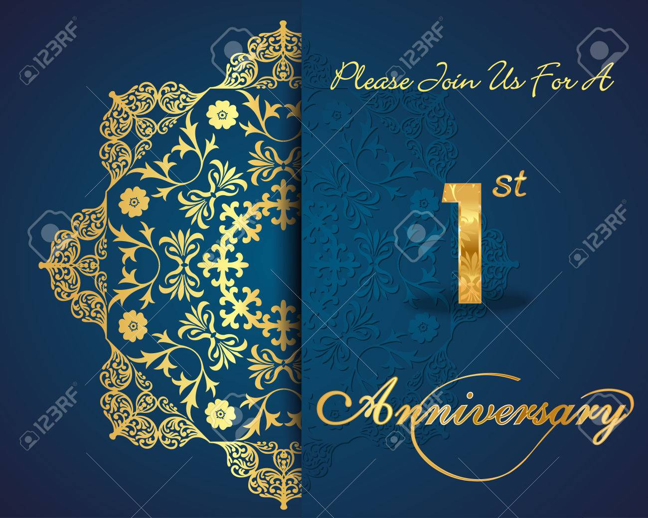 1 year anniversary celebration pattern design 1st anniversary 1 year anniversary celebration pattern design 1st anniversary decorative floral elements ornate background stopboris Image collections