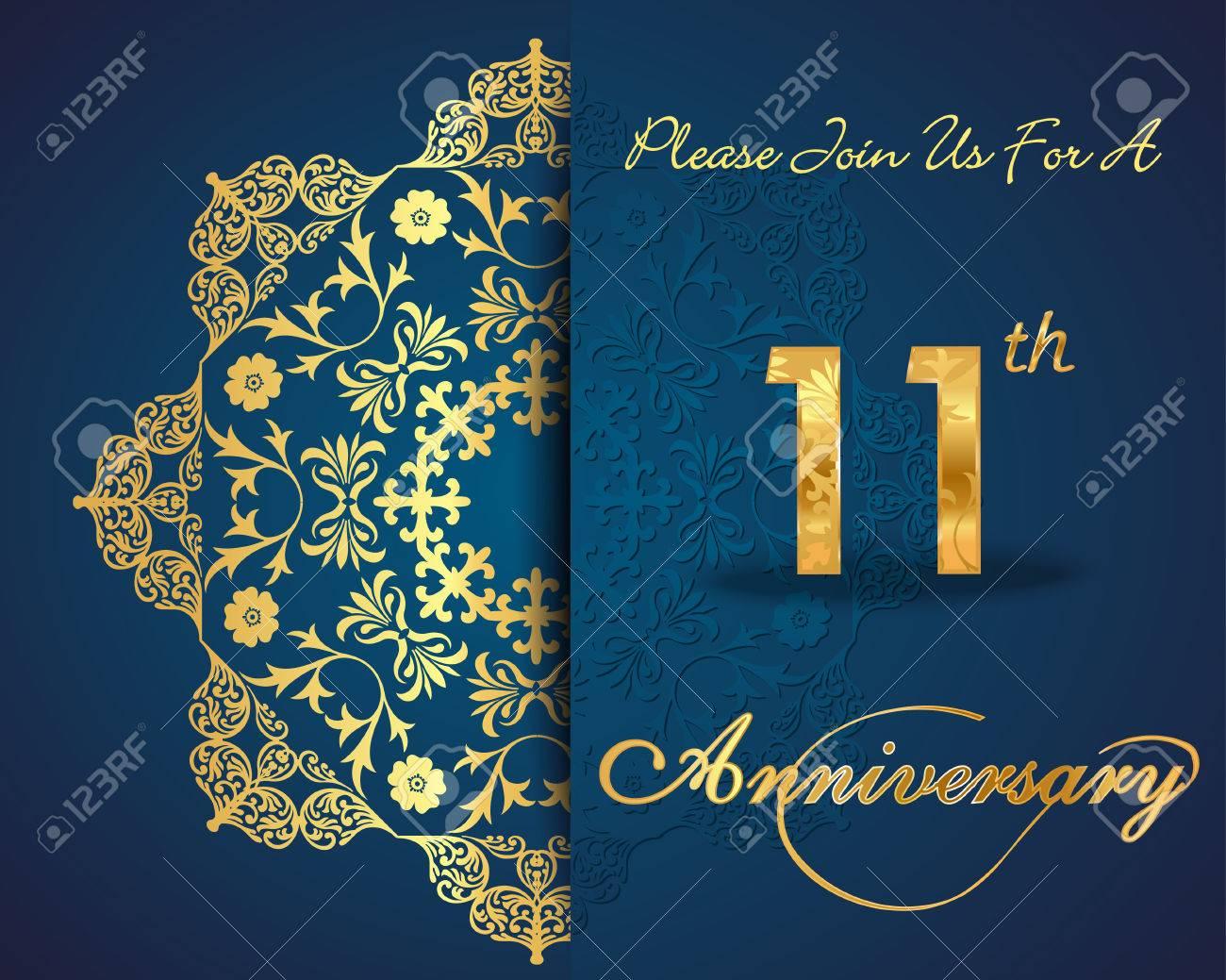 11 year anniversary celebration pattern design 11th anniversary