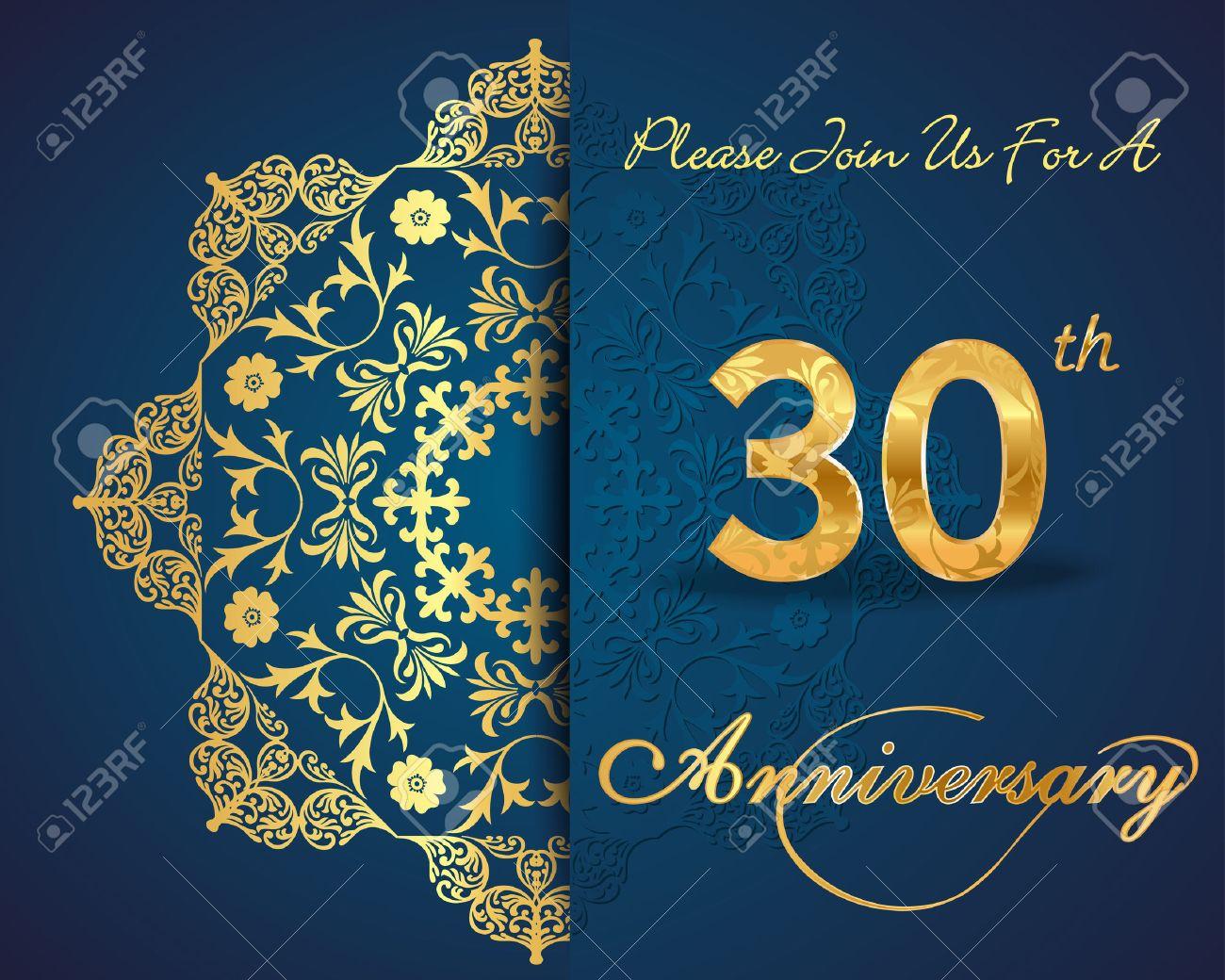 Anniversario 30 Anni Di Matrimonio.Vettoriale Design 30 Anni Del Modello Anniversario 30