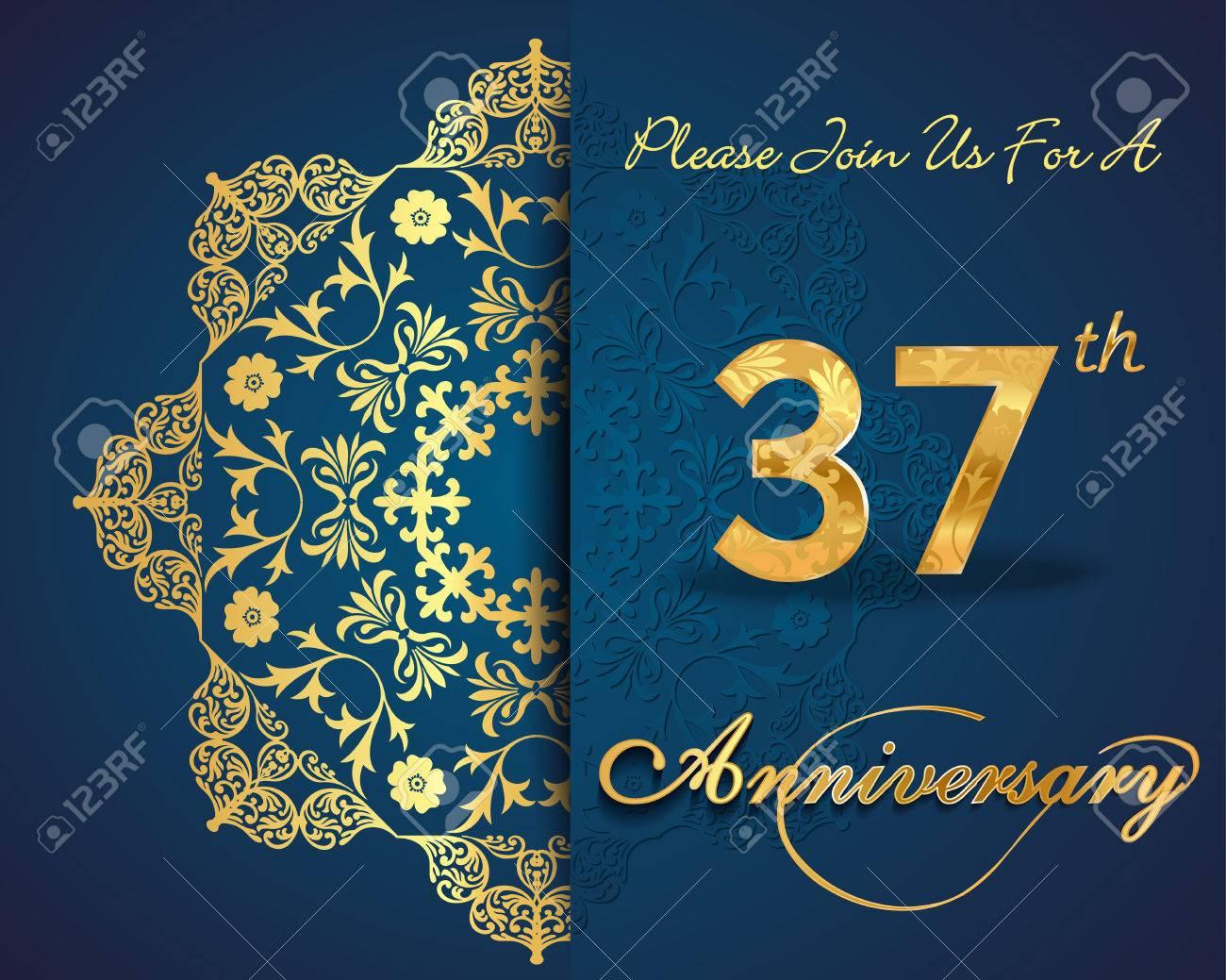 Anniversario Di Matrimonio 21 Anni.37 Year Anniversary Celebration Pattern Design 37th Anniversary