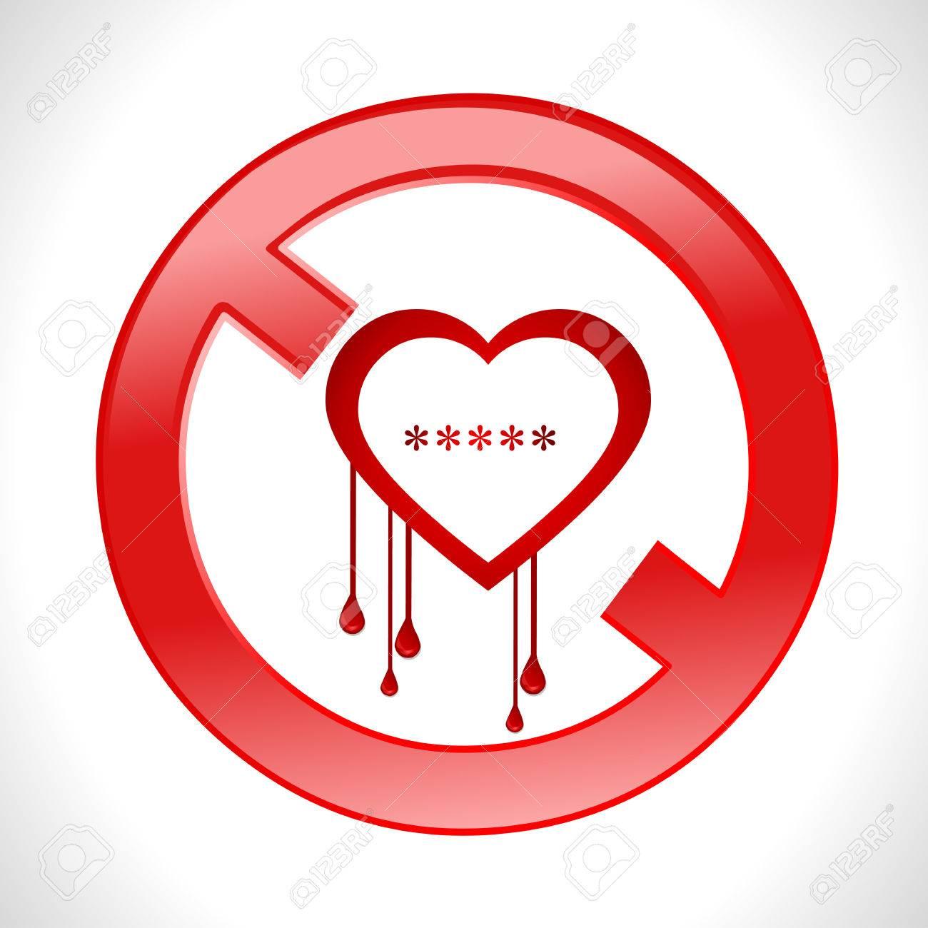 Heart bleed openssl bug virus bleeding heart restricted vector heart bleed openssl bug virus bleeding heart restricted vector eps10 stock vector 37688942 buycottarizona