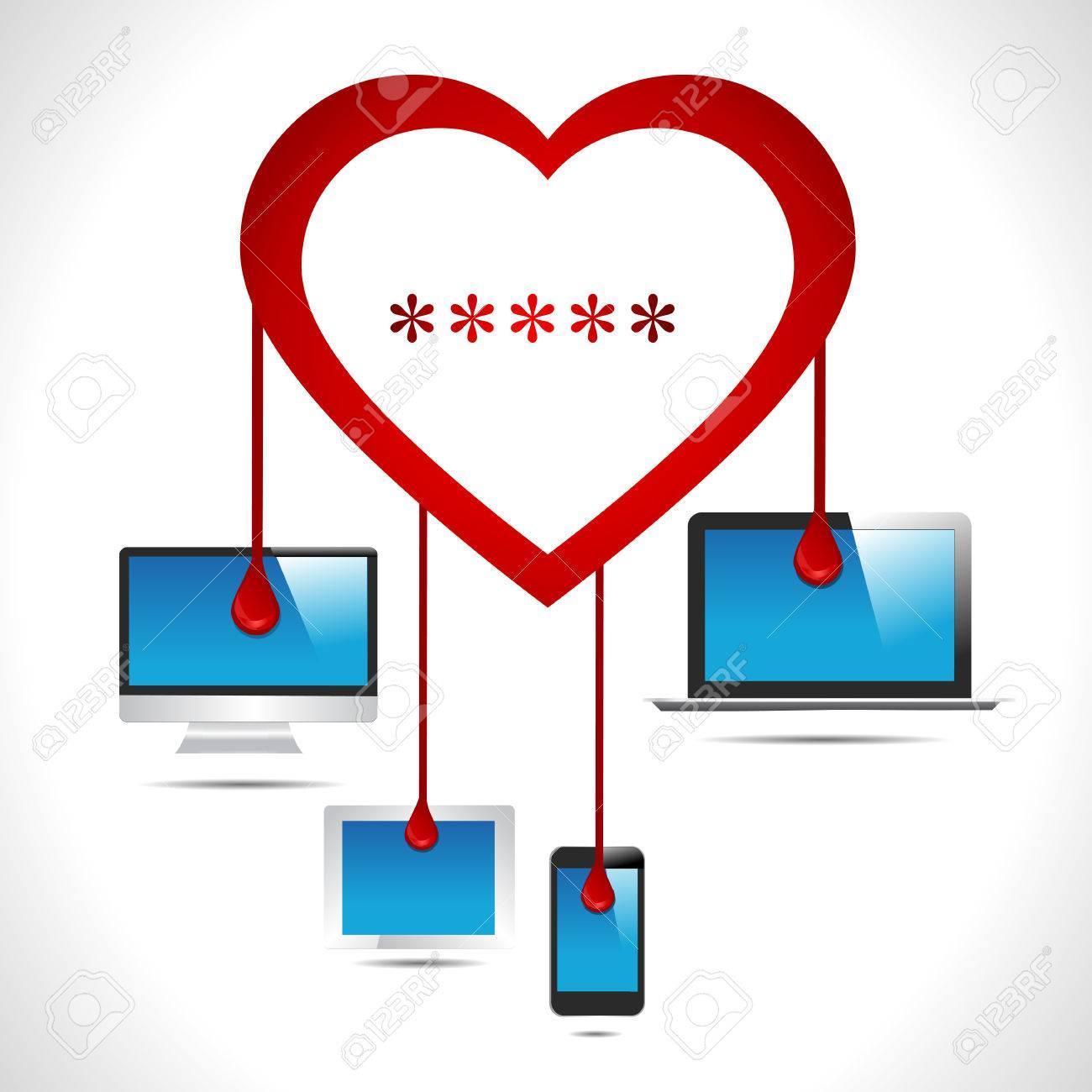 Heartbleed Bug Virus Heart Bleed Bug With Computer, Tab, Mobile ...