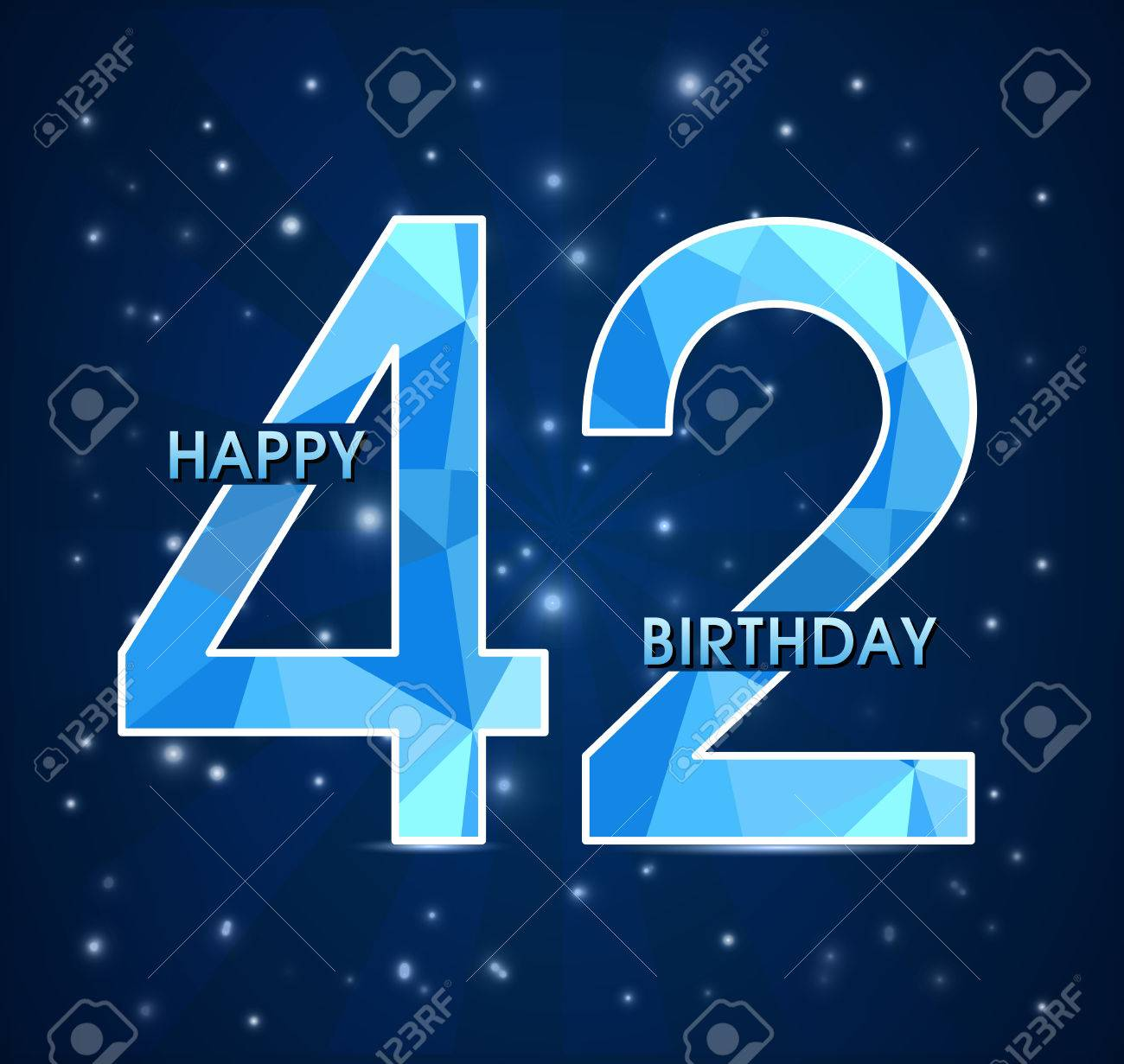 Поздравление мужчине с днем рождения на 42 года