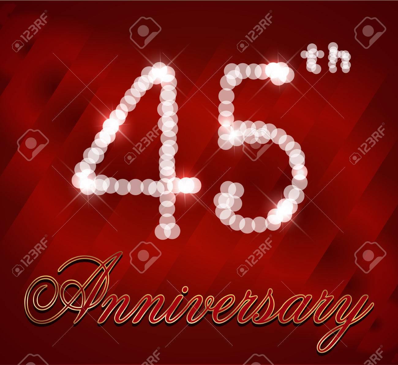 45 Year Happy Birthday Card 45th Vector EPS10 Stock