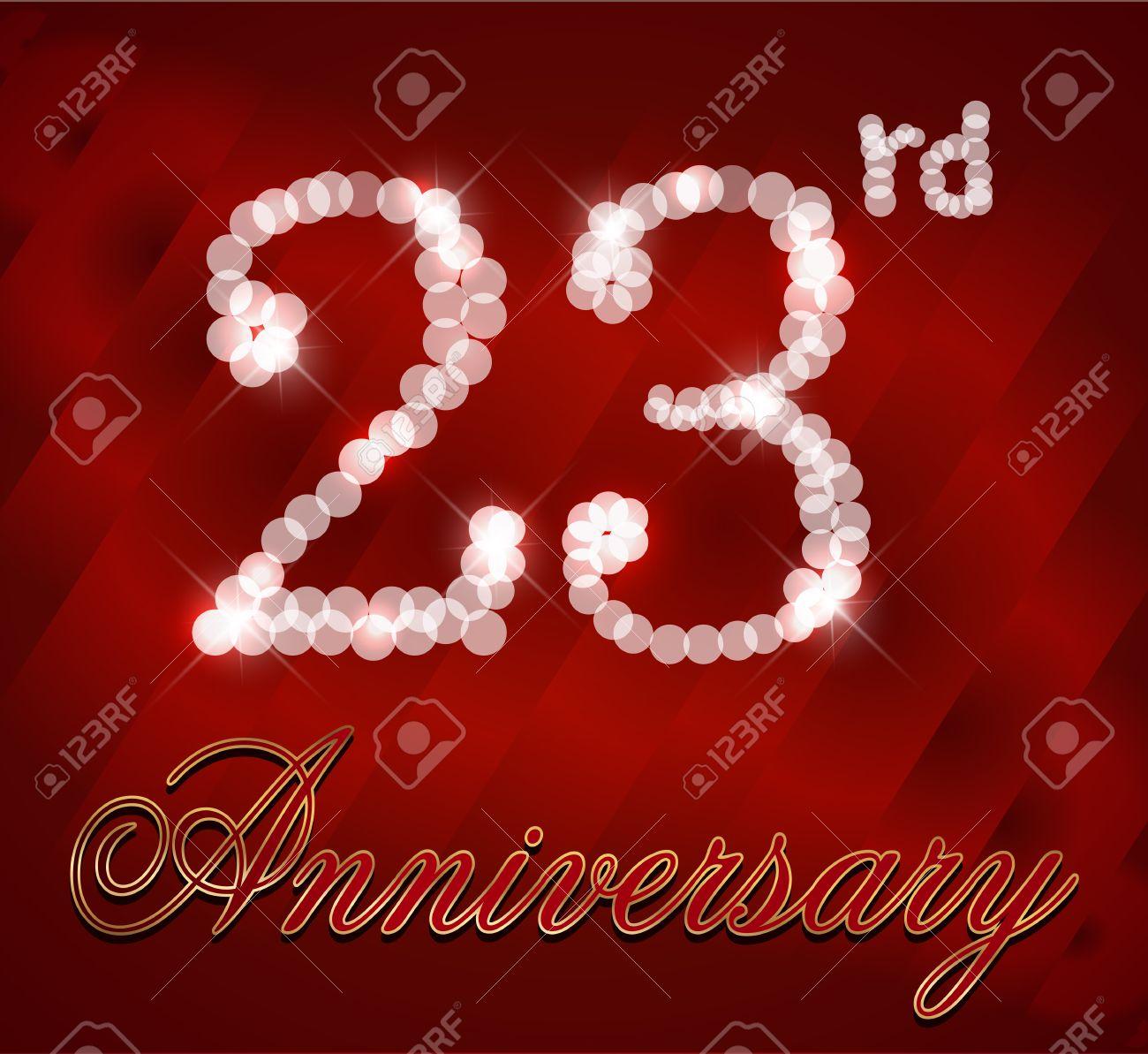 Auguri Anniversario Matrimonio 23 Anni.23 Anni Scheda Di Buon Compleanno Anniversario 23 Scintille