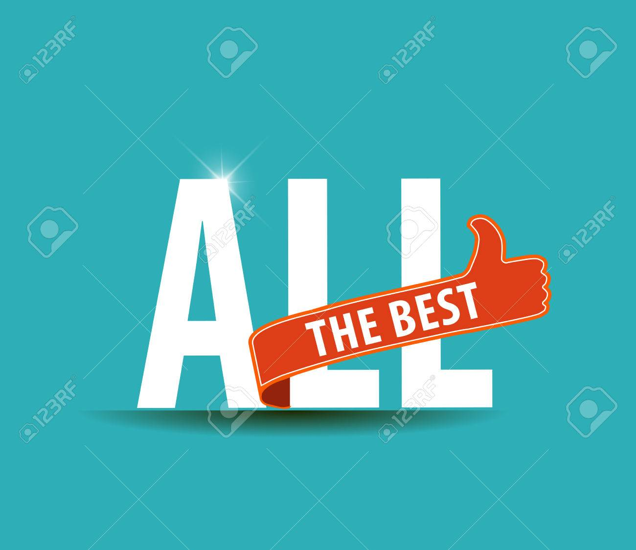 All the best motivational graphic for best wishes, good luck - vector eps10 - 46272146