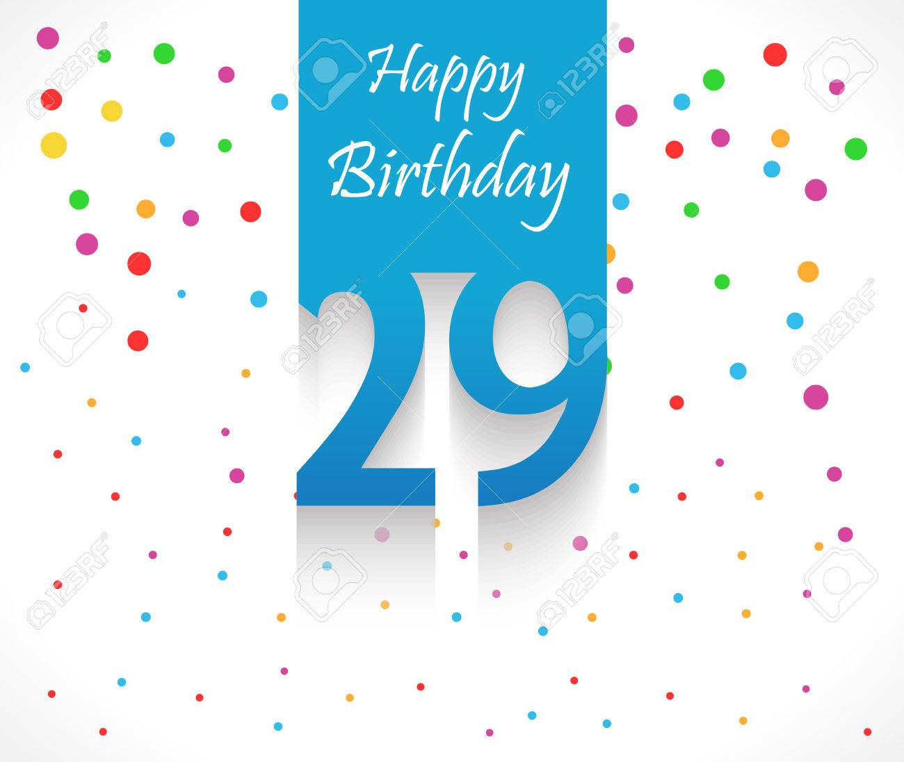 29 years happy birthday background or card with colorful confetti 29 years happy birthday background or card with colorful confetti with polka dots vector eps10 bookmarktalkfo Images
