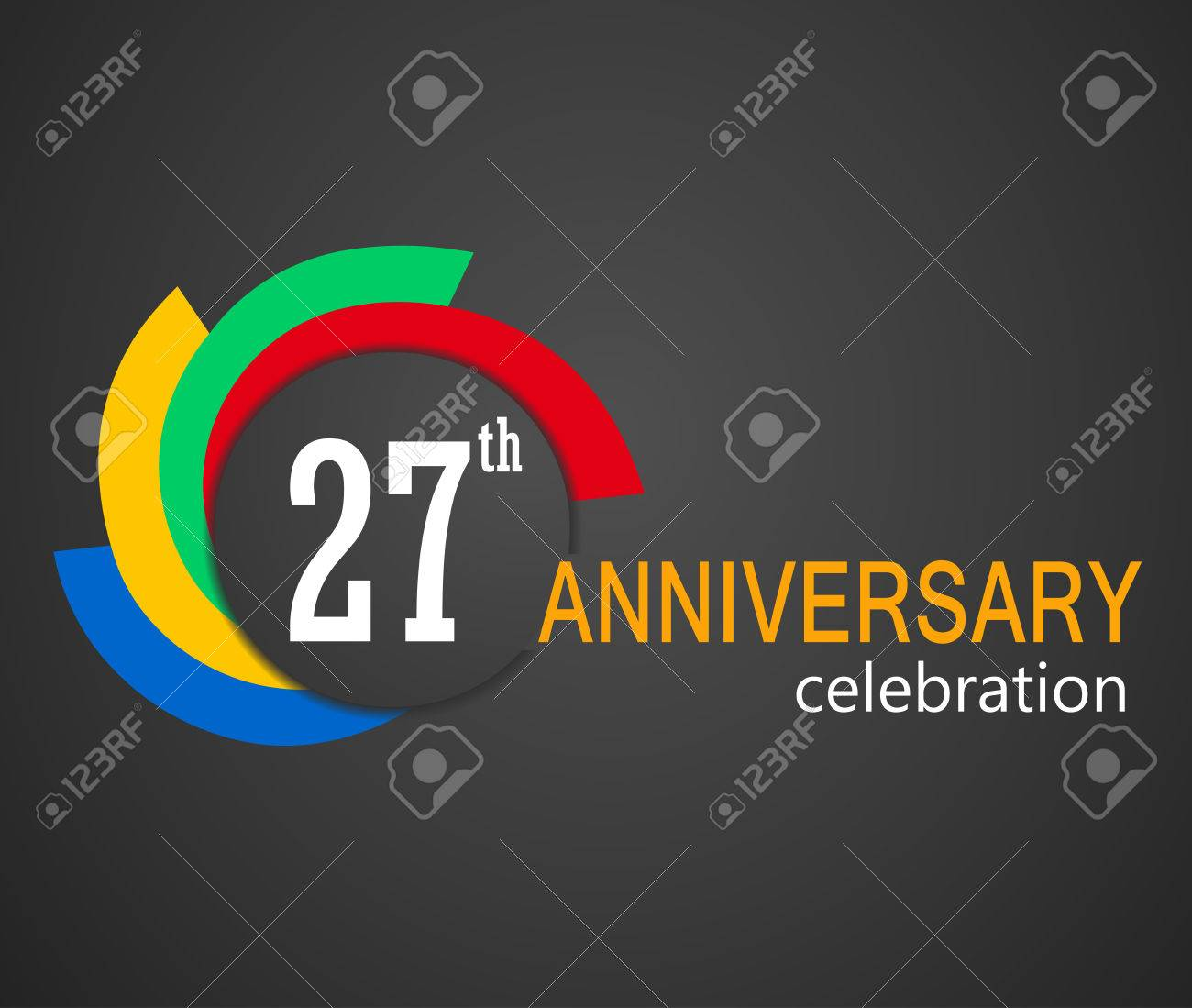 27th anniversary celebration background 27 years anniversary 27th anniversary celebration background 27 years anniversary card illustration vector eps10 stock vector biocorpaavc Images
