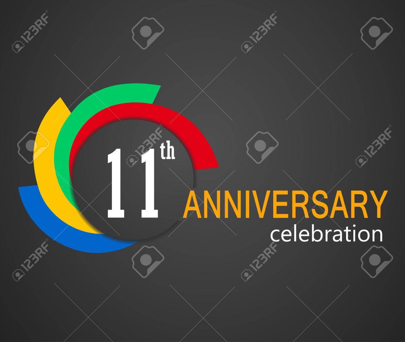 11th anniversary celebration background 11 years anniversary
