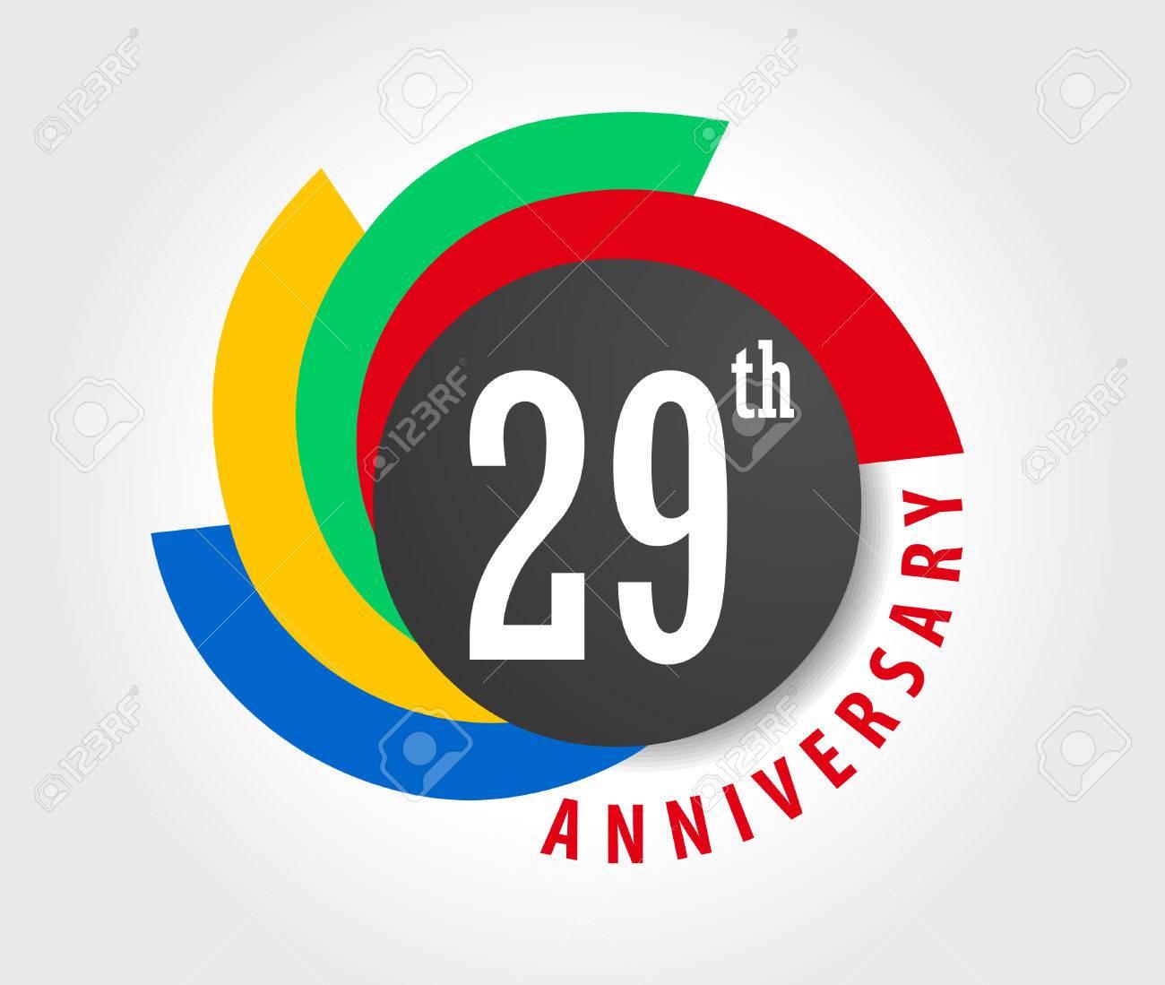 29e Anniversaire Celebration Fond 29 Ans Carte Anniversaire Illustration Clip Art Libres De Droits Vecteurs Et Illustration Image 59936530