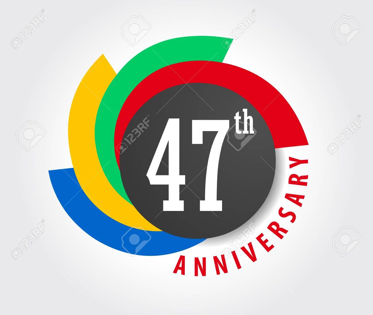 Anniversario Di Matrimonio 23 Anni.Vettoriale 47 Anniversario Celebrazione Sfondo 47 Anni