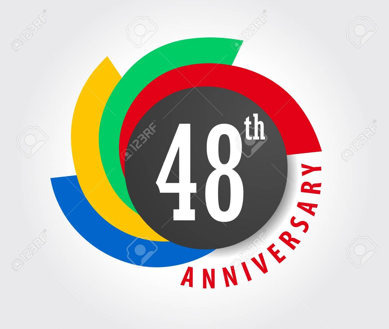 Anniversario Di Matrimonio 29 Anni.Vettoriale 48 Anniversario Celebrazione Sfondo 48 Anni