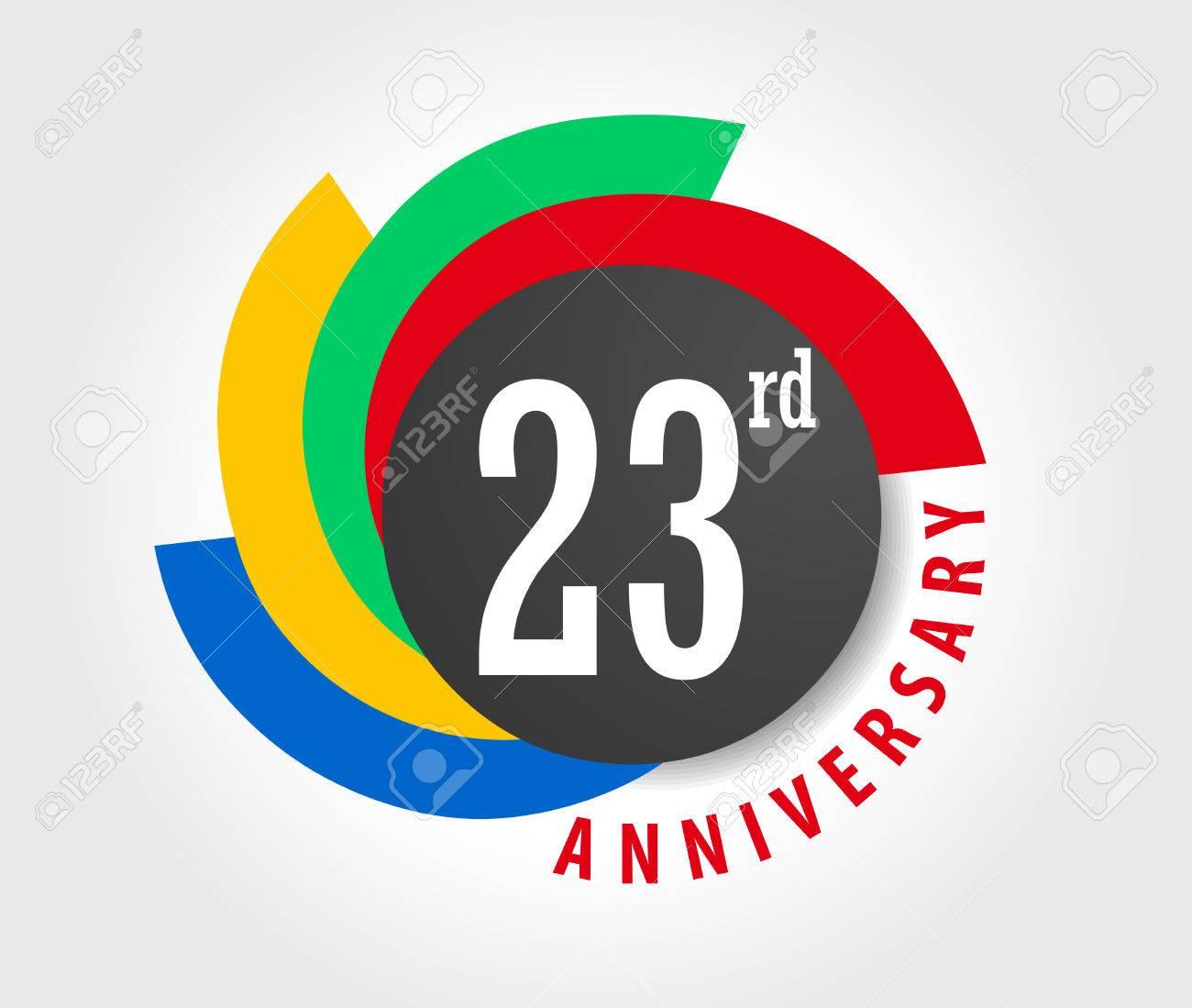 Auguri Anniversario Matrimonio 23 Anni.23 Anniversario Celebrazione Sfondo 23 Anni Biglietto Di Auguri Illustrazione Vector Eps10