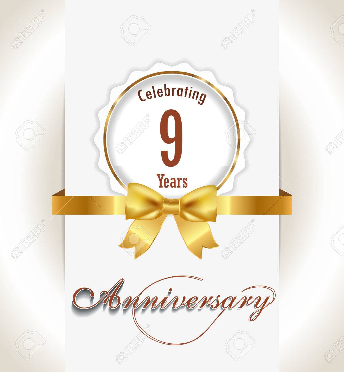 9th anniversary background 9 years celebration invitation card 9th anniversary background 9 years celebration invitation card vector eps 10 banco de imagens stopboris Image collections