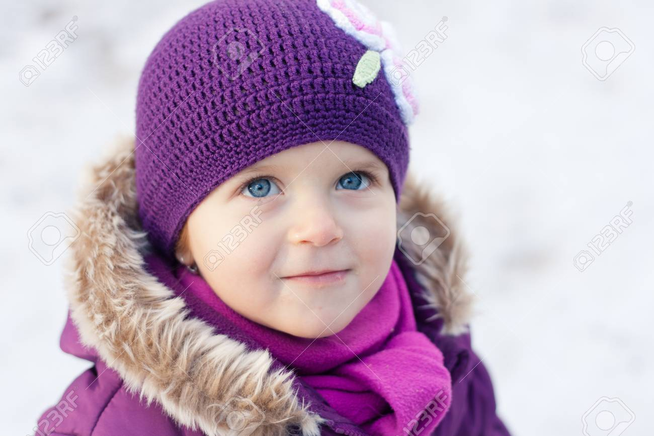Close-up portrait of a little girl outdoors on a winter day Stock Photo - 16987191