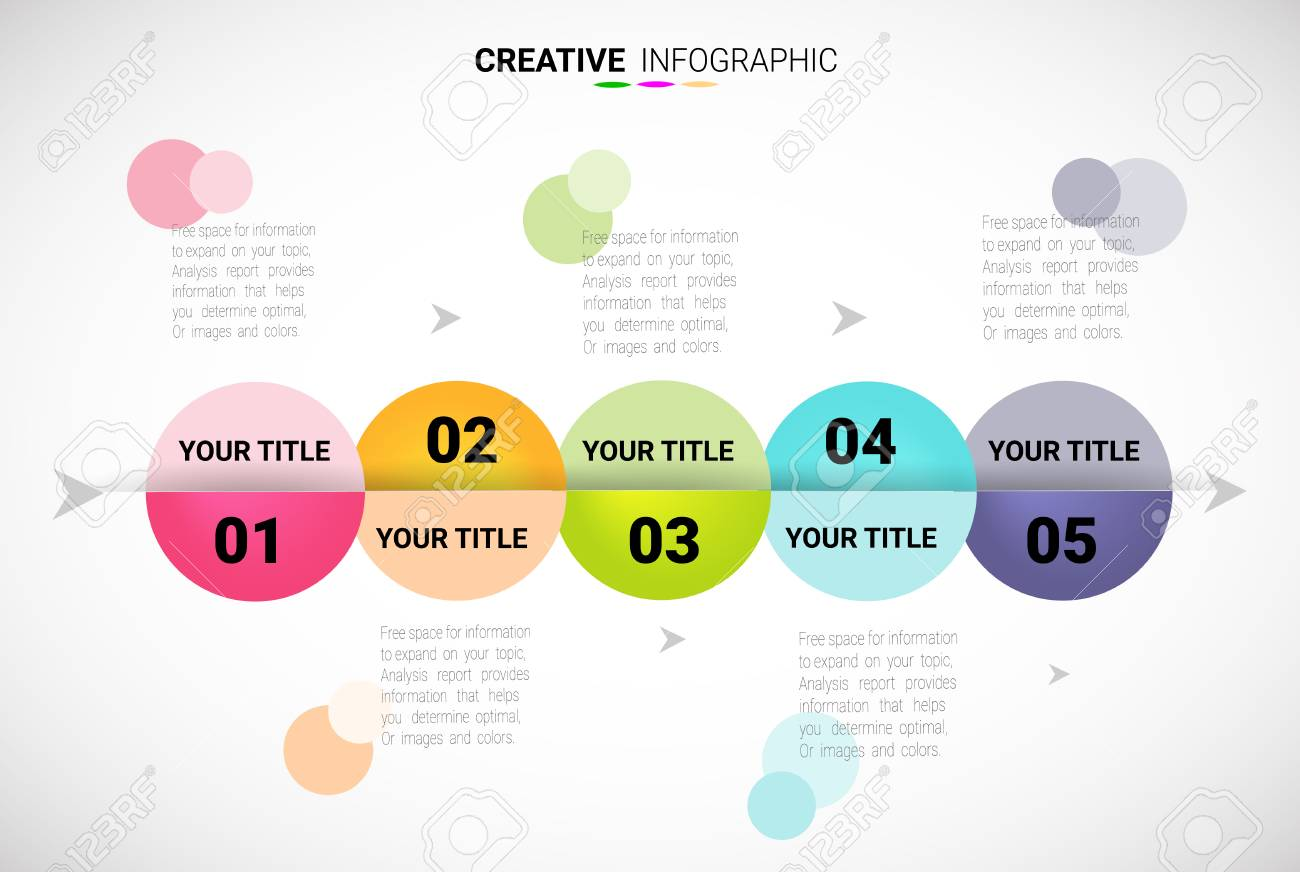 Presentation Infographic Template With Options Timeline - Free timeline infographic template