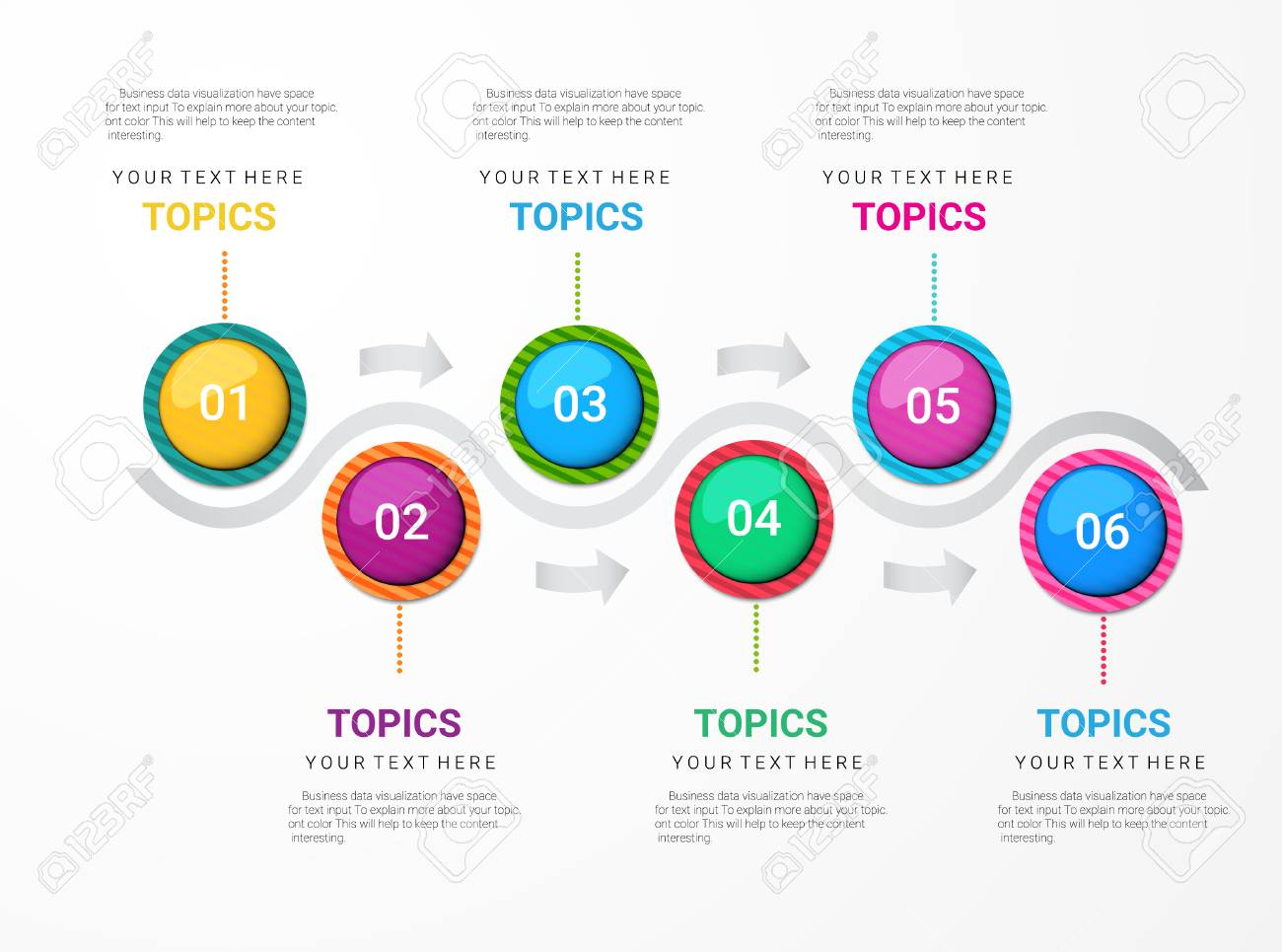 Colorful Timeline Abstract Timeline Infographic Template