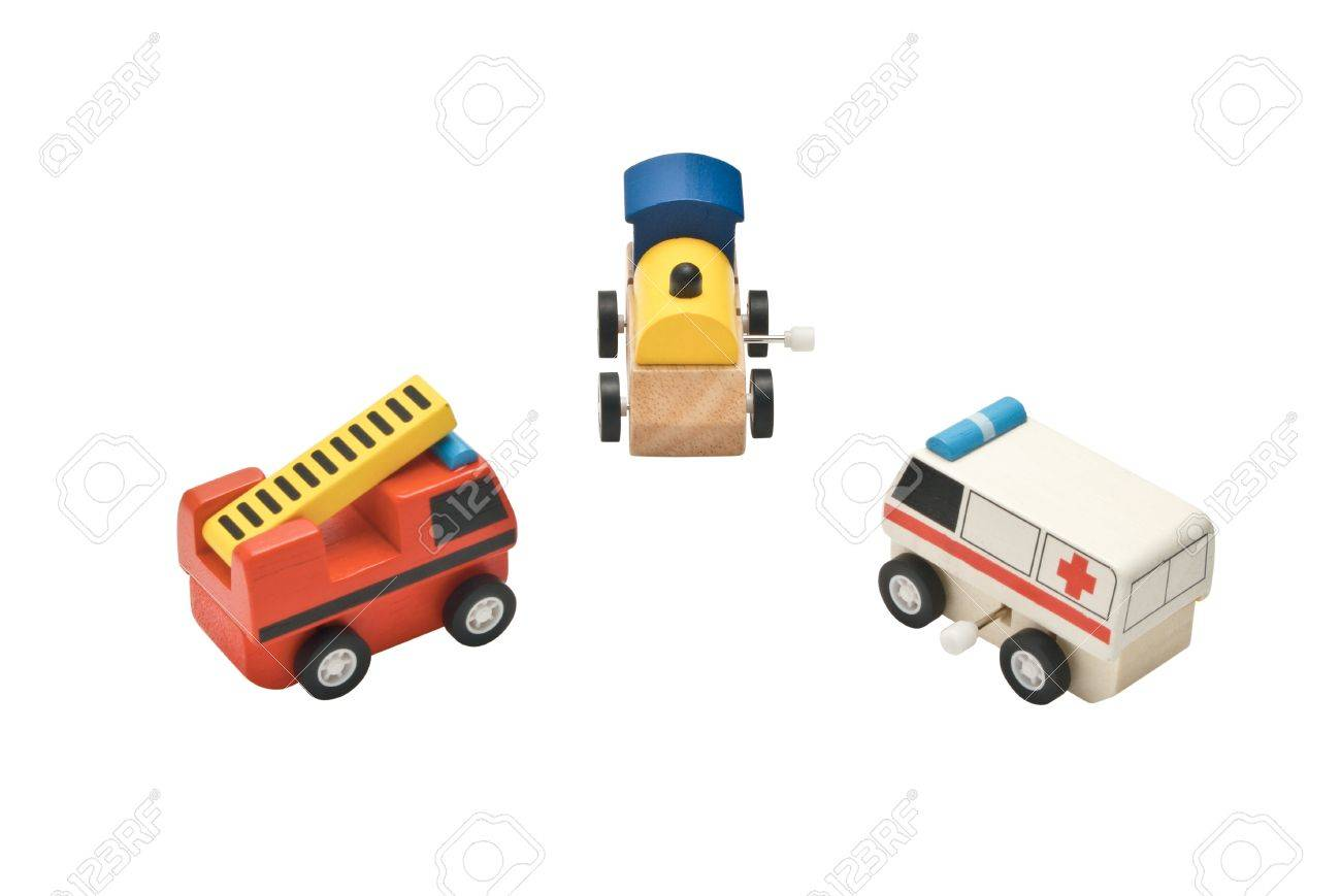 train, ambulance and fire truck toy Stock Photo - 13164129