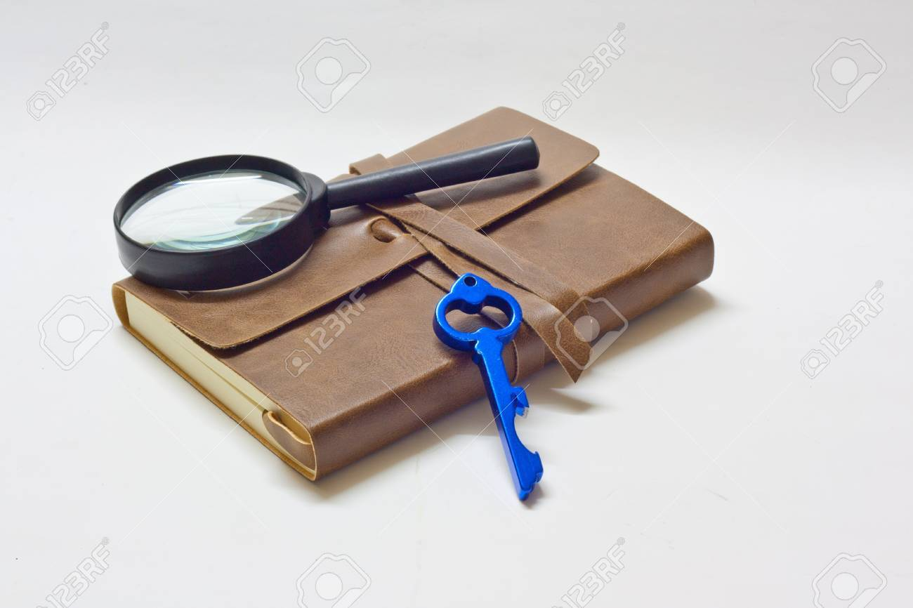 detective notebook   key Stock Photo - 13166845