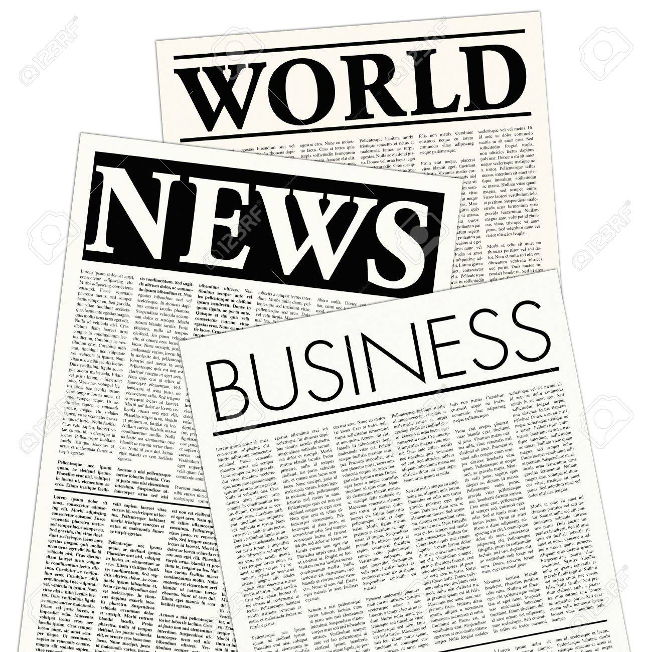 fictitious newspaper Stock Photo - 6585576