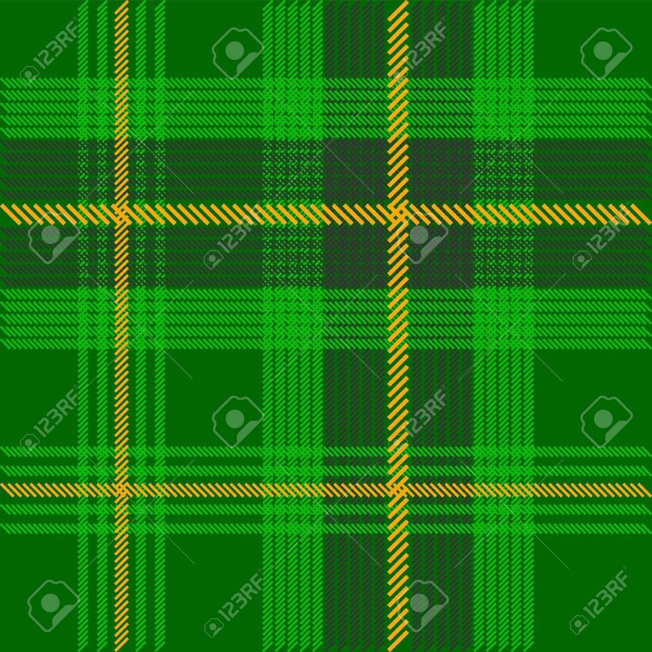 Green Tartan Fabric Texture