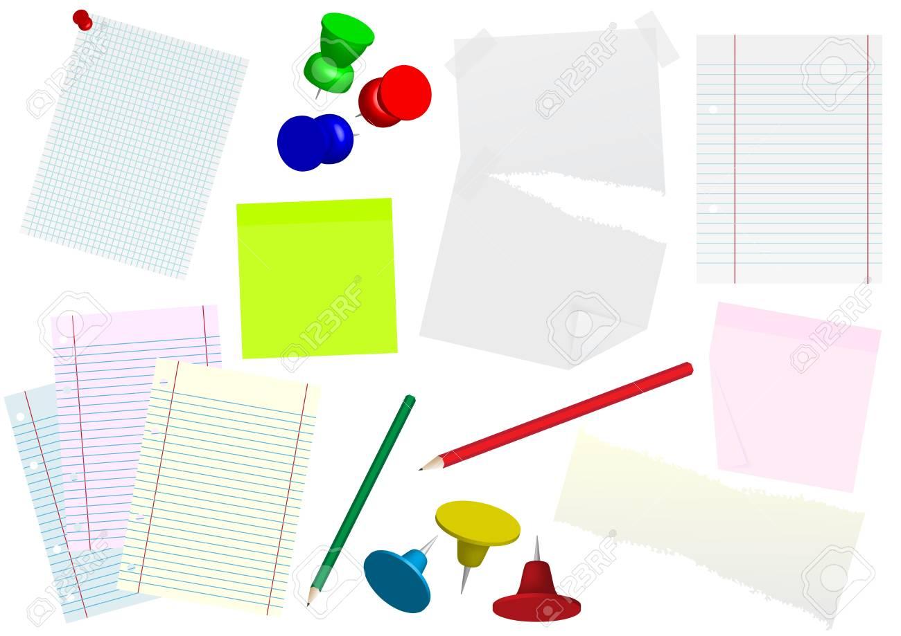 Set of Office Stationary Stock Photo - 7574668