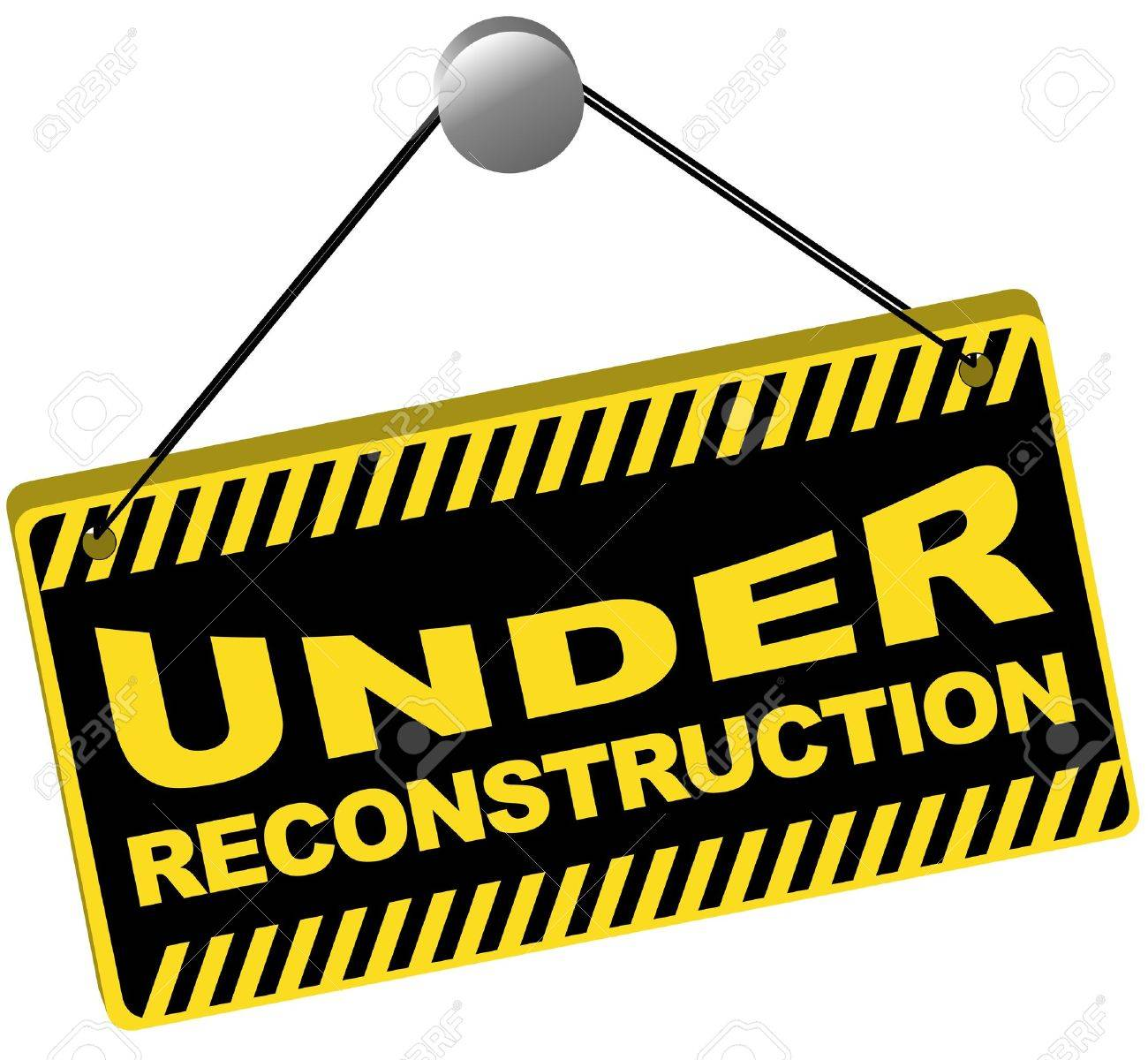 Web Icon -Under Reconstruction Sign Isolated on White - 8690439